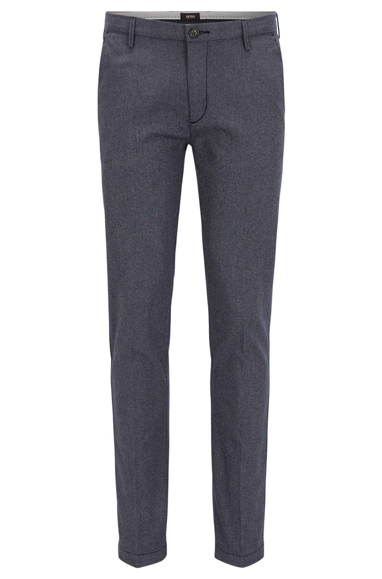 Slim-fit chinos in three-tone cotton