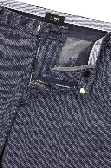 Slim-fit chinos in micro-pattern cotton BOSS migeV