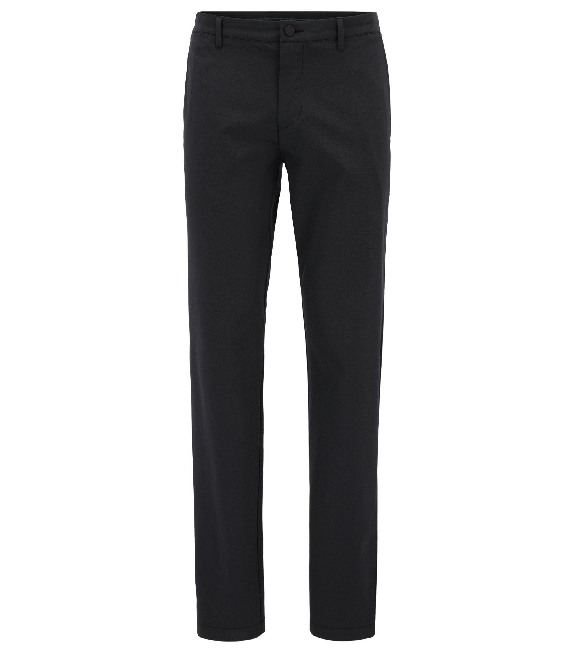 Pantalon Extra Slim Fit en tissu technique stretch, Noir