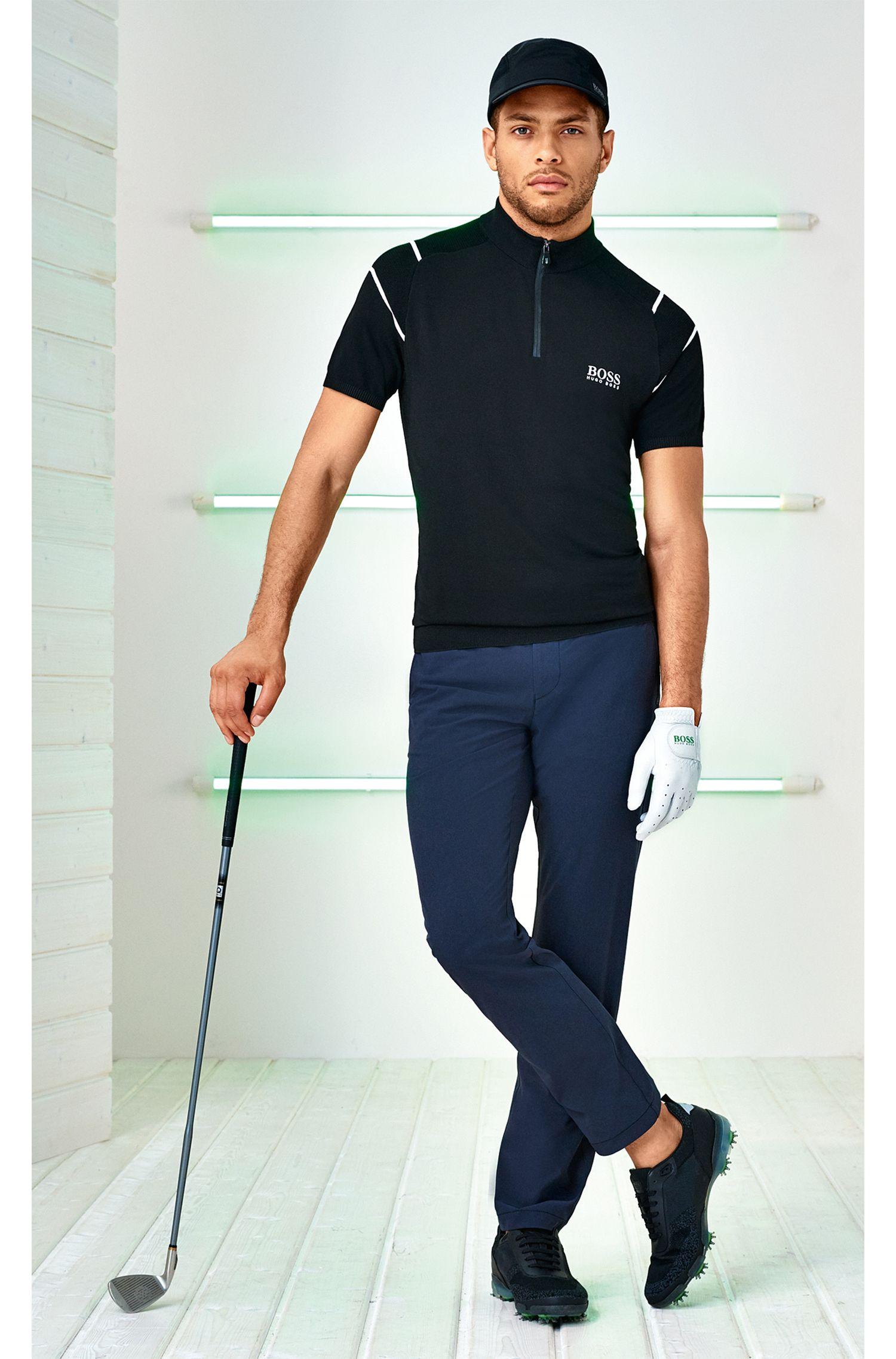 Extra slim-fit broek van elastisch, technisch materiaal
