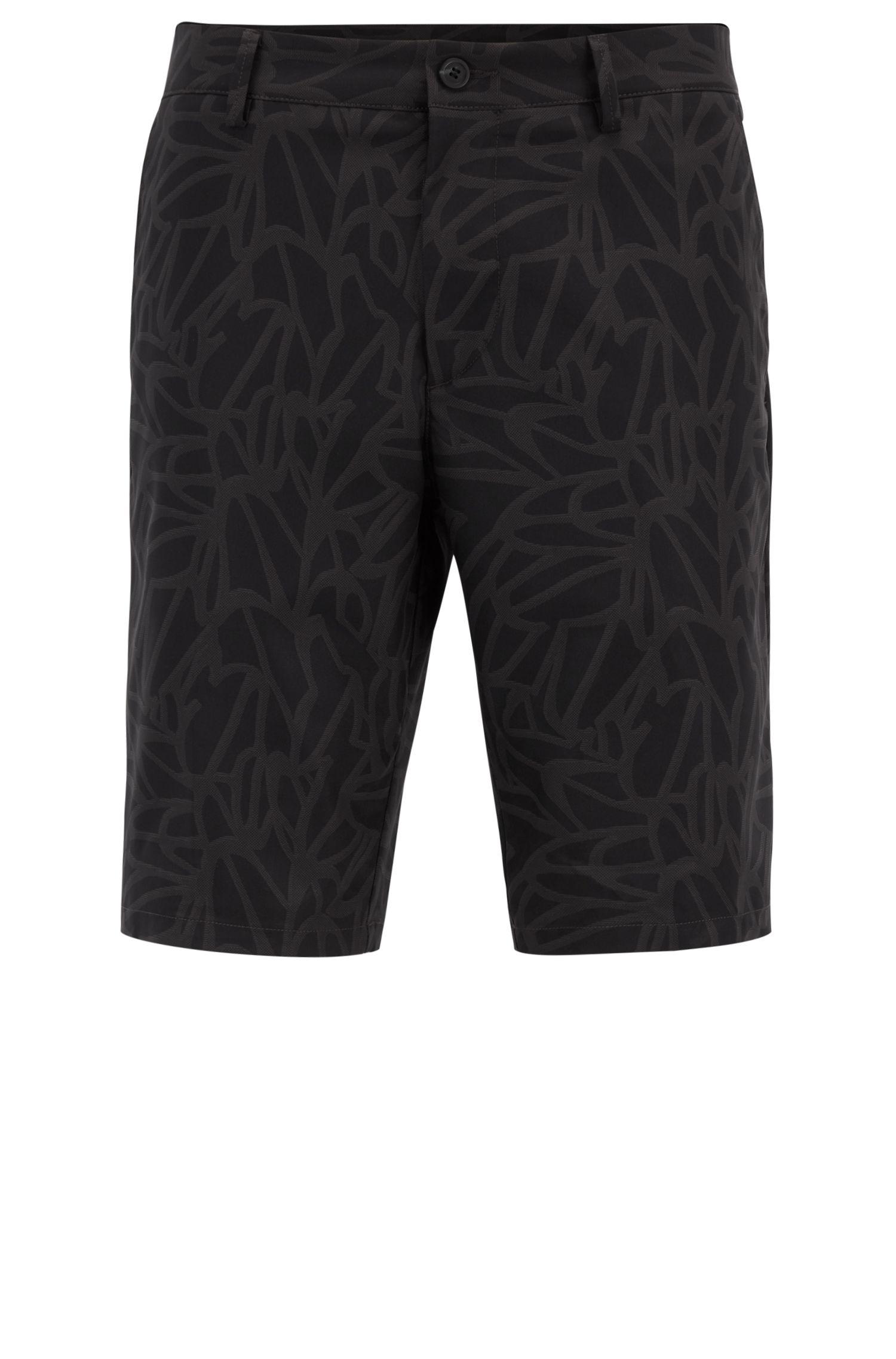 Bedruckte Slim-Fit Shorts aus wasserabweisendem Twill