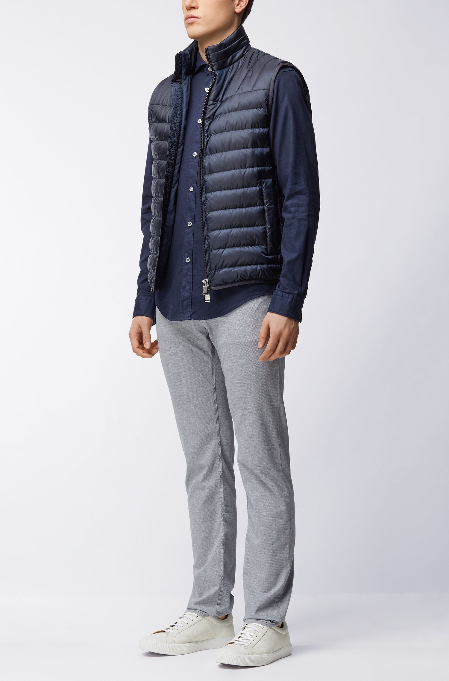 Quilted down-filled gilet in water-repellent fabric