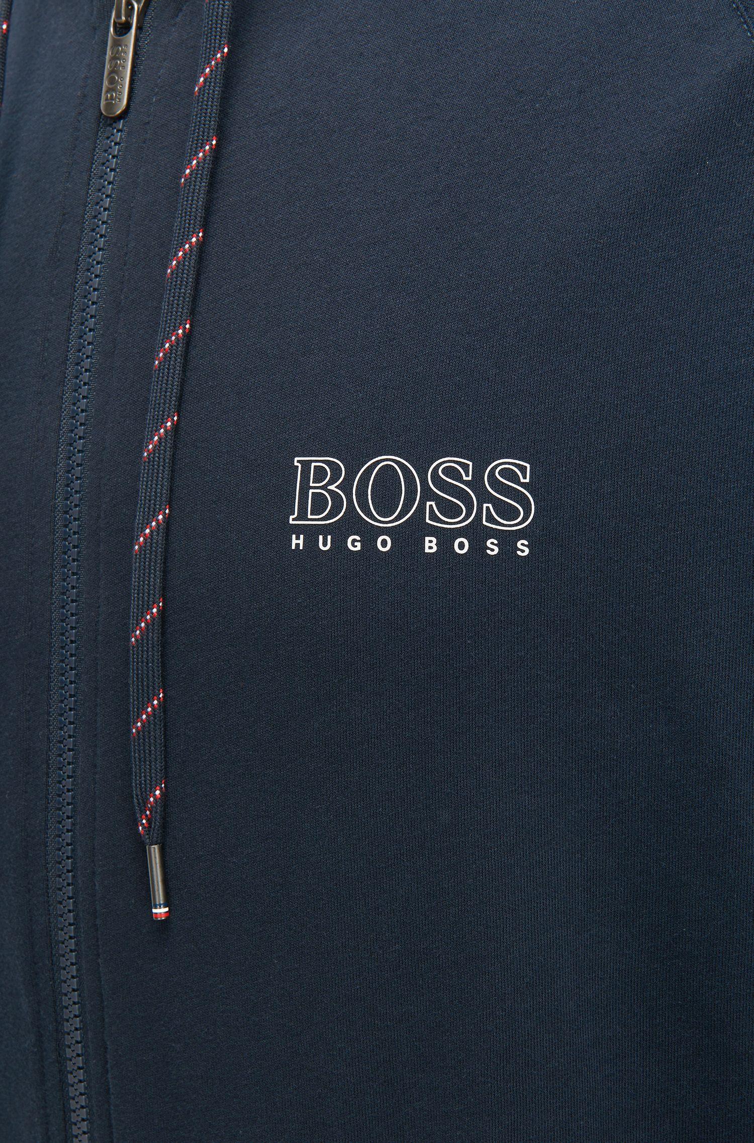 Veste d'intérieur à capuche Regular Fit en jersey simple