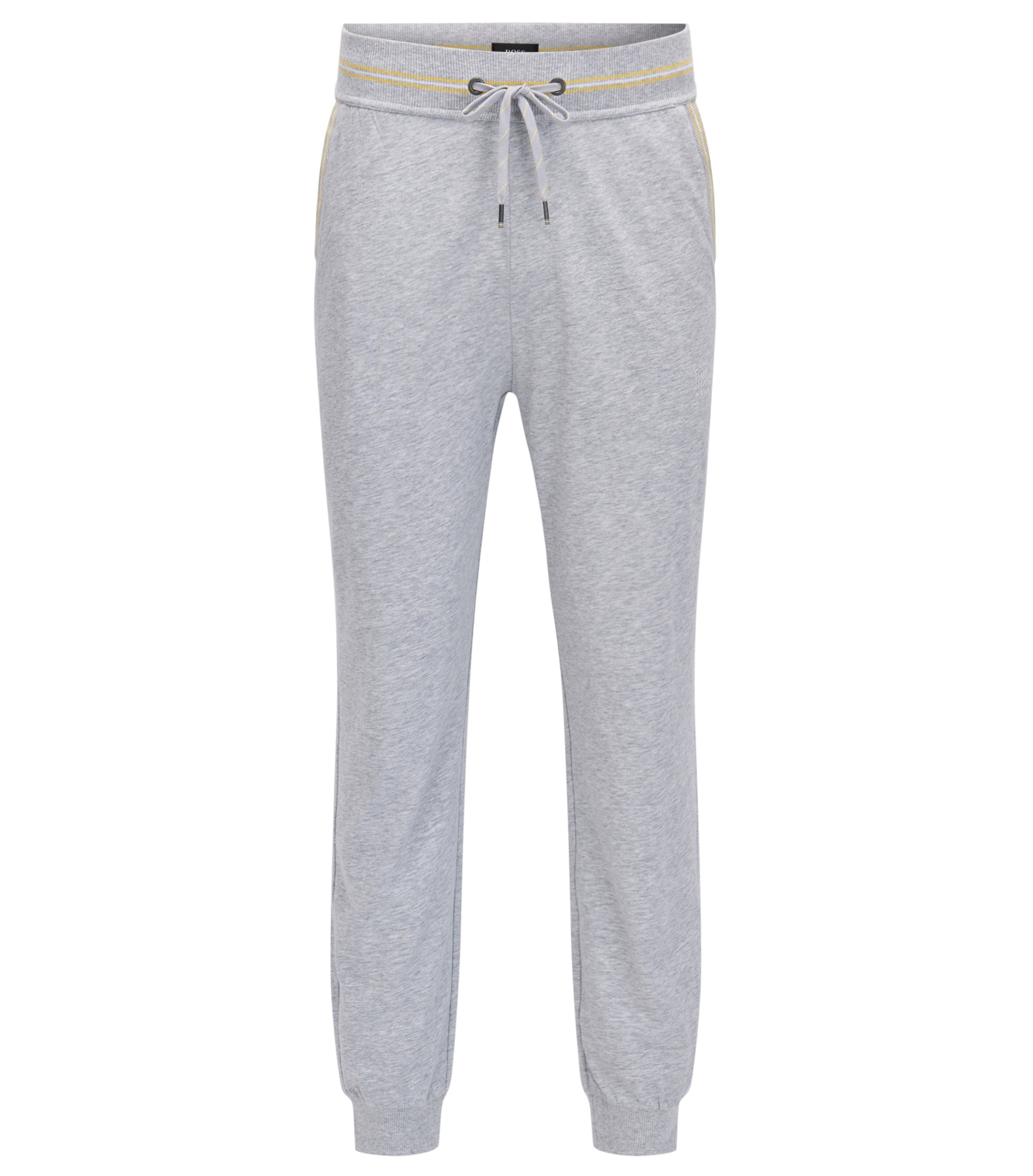 Cuffed loungewear trousers in single-jersey cotton, Grey
