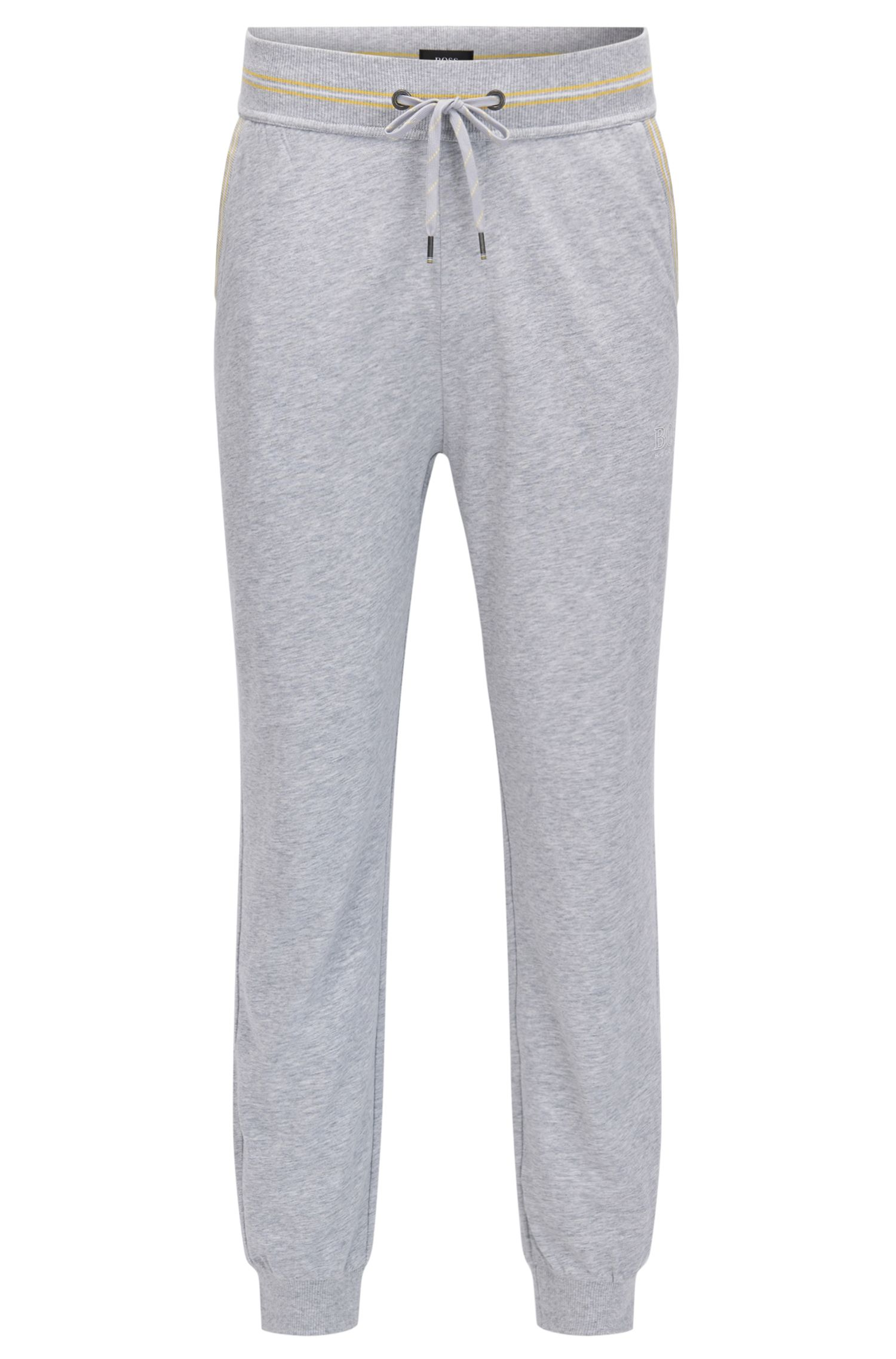 Cuffed loungewear trousers in single-jersey cotton