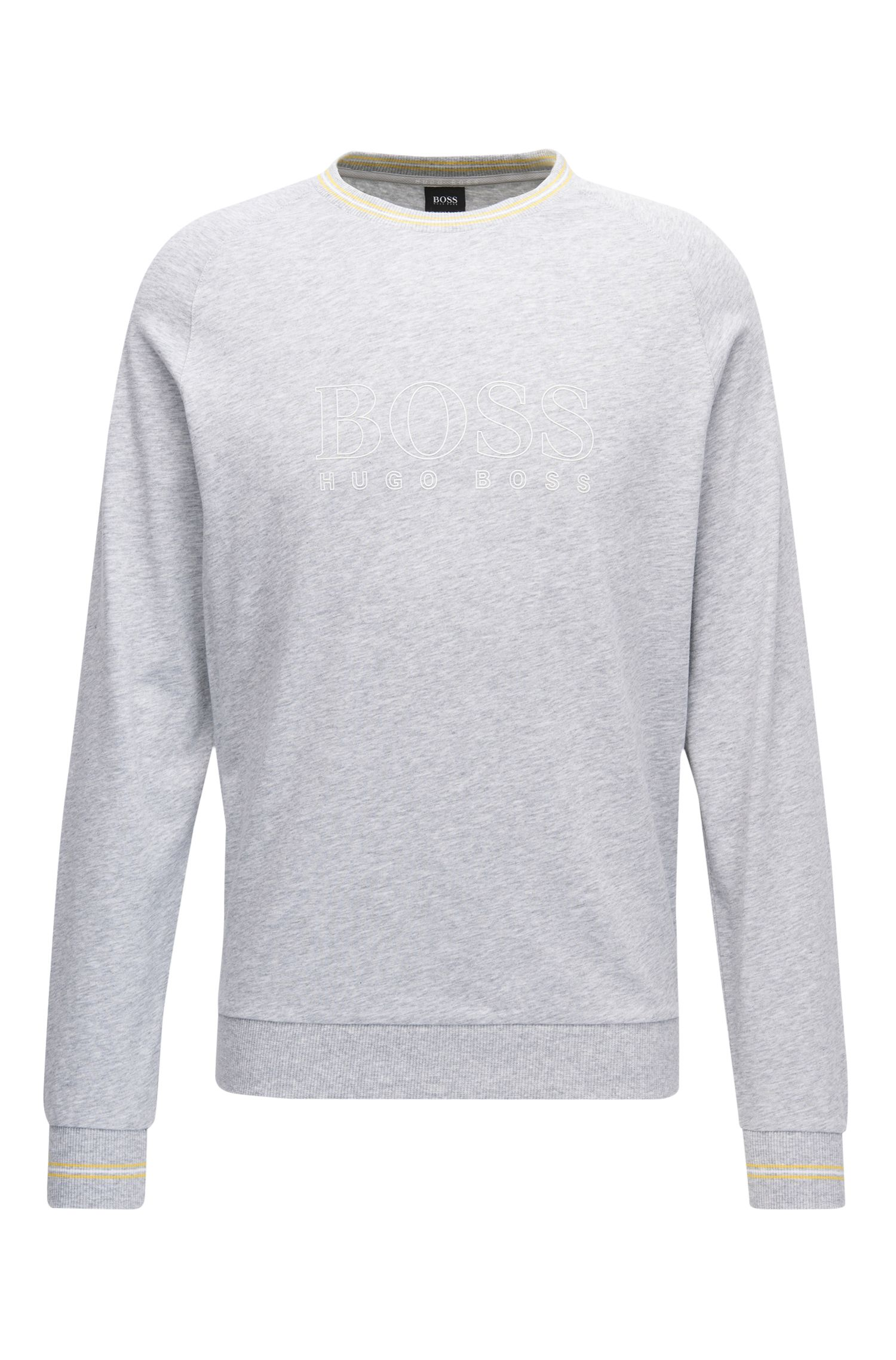 Legerer Pullover aus Baumwoll-Jersey mit Rundhalsausschnitt