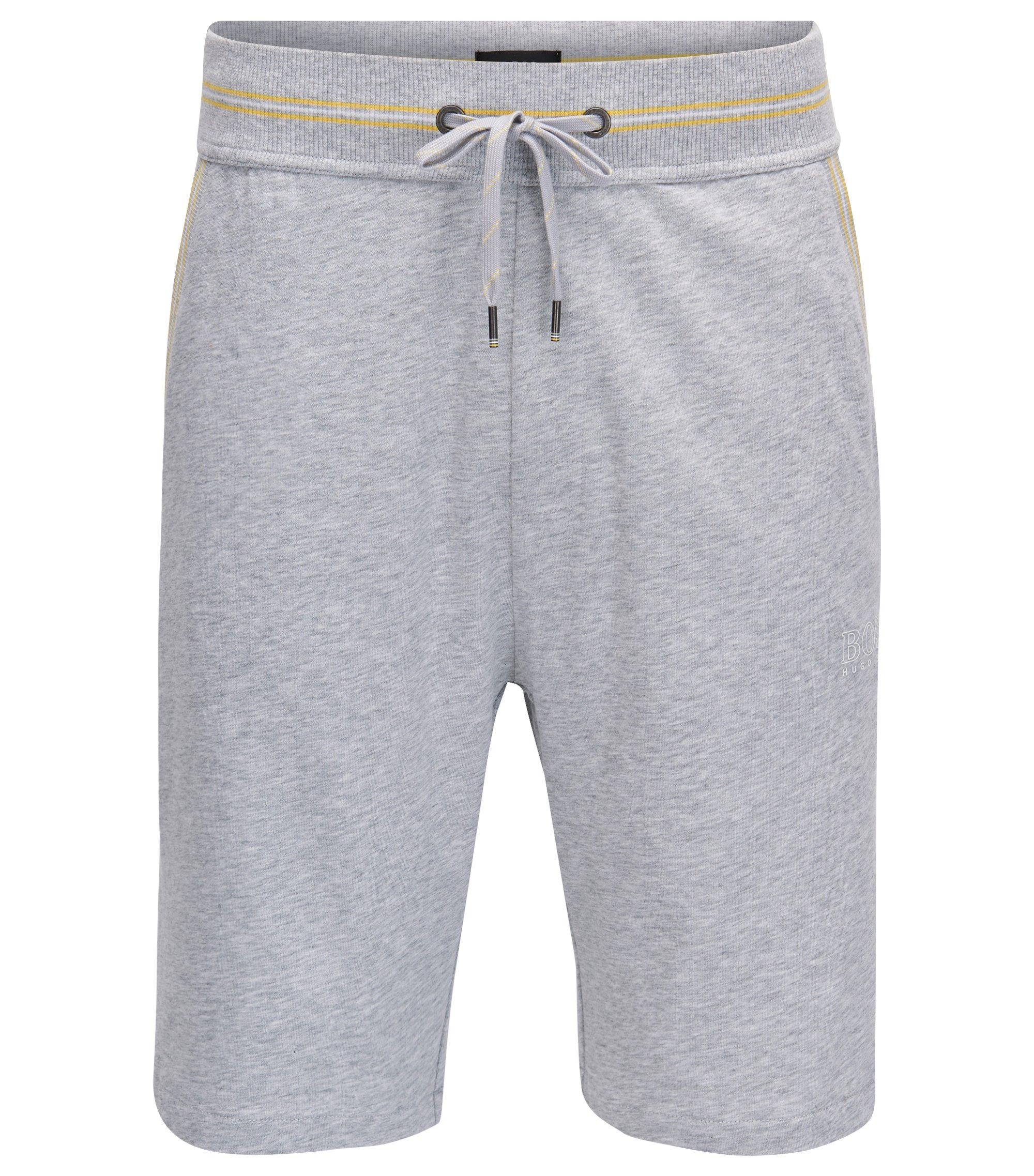 Loungewear Shorts aus Single Jersey mit Taillen-Tunnelzug, Grau