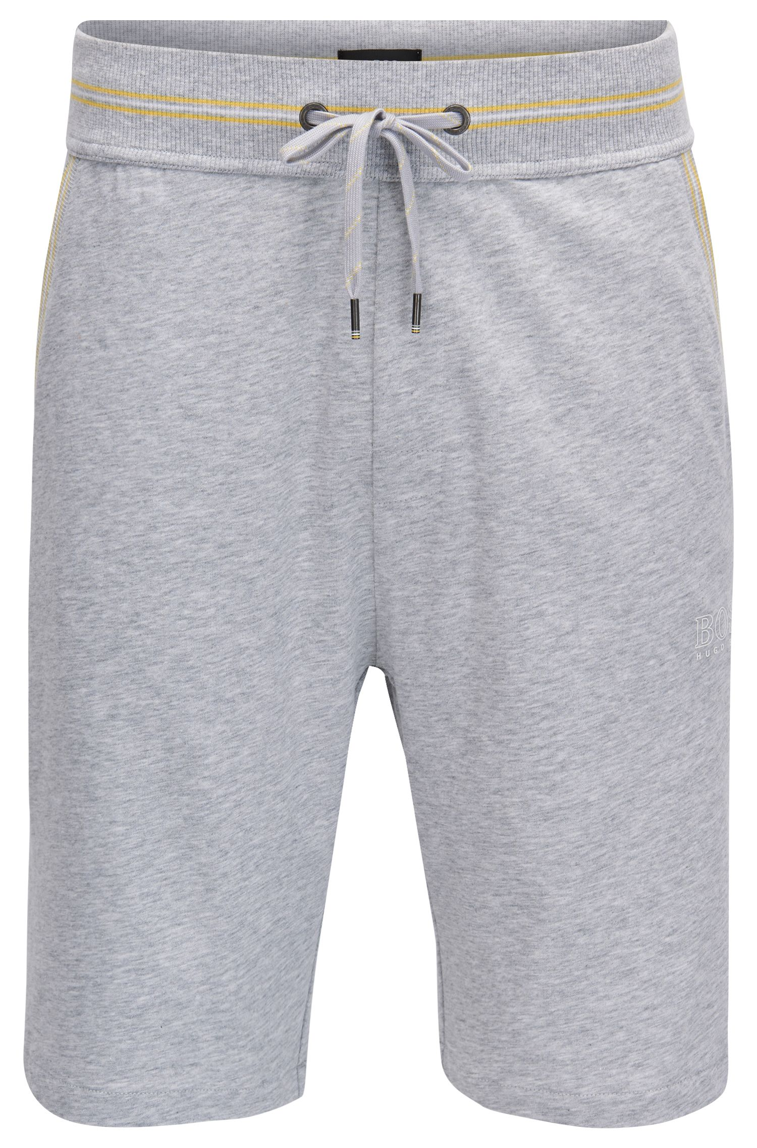 Single-jersey loungewear shorts with drawstring waist