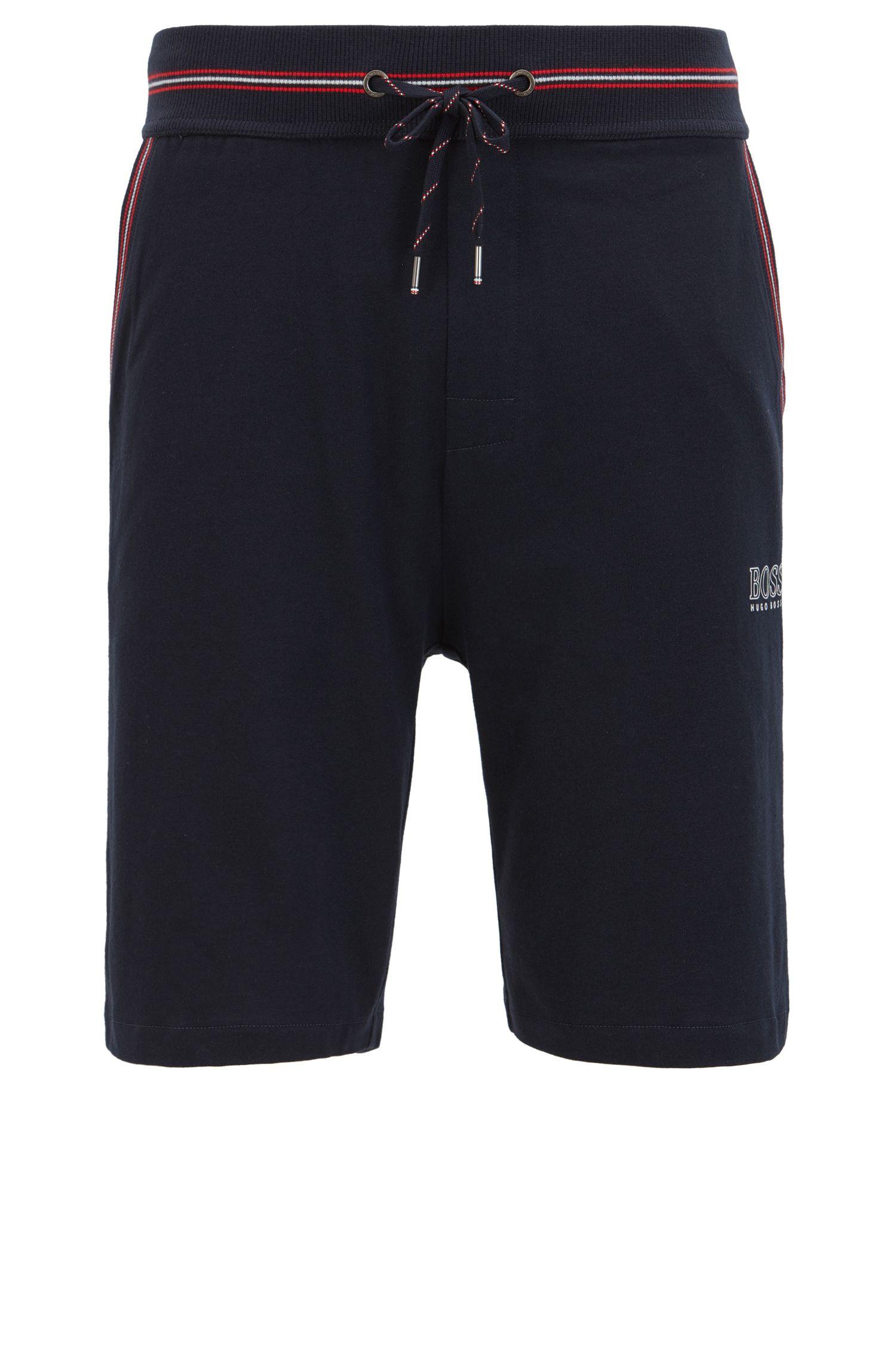 Single-jersey loungewear shorts with drawstring waist
