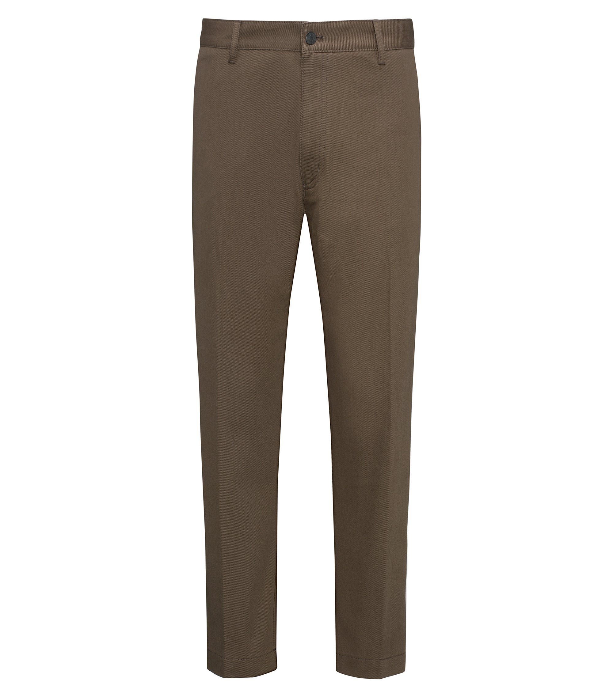 Cargo Regular Fit en twill de coton, Marron