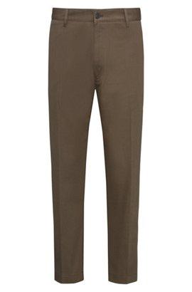 Slim-fit cargo trousers in twill cotton HUGO BOSS TmTDg
