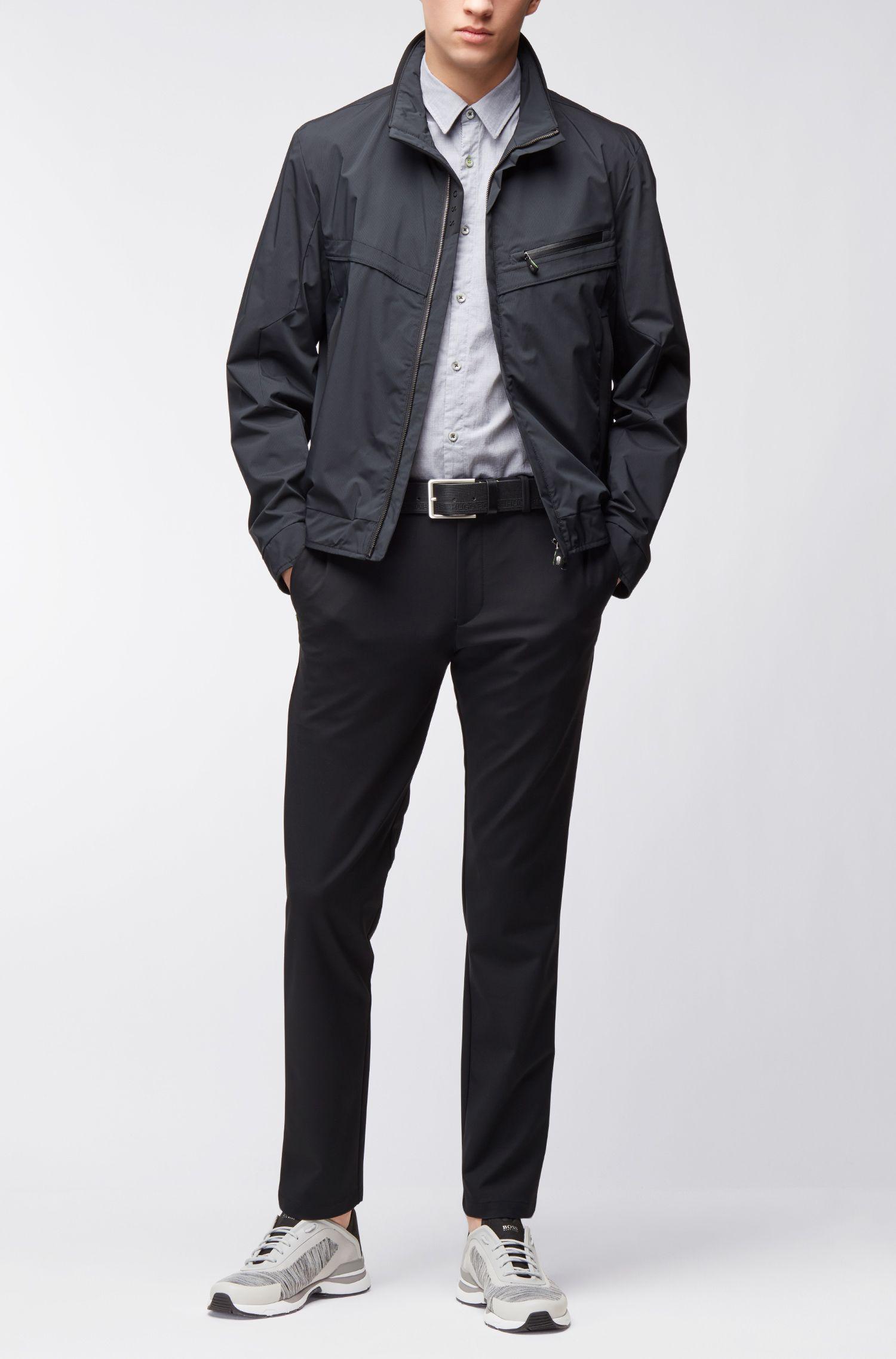 Camisa regular fit en algodón elástico con control de la humedad