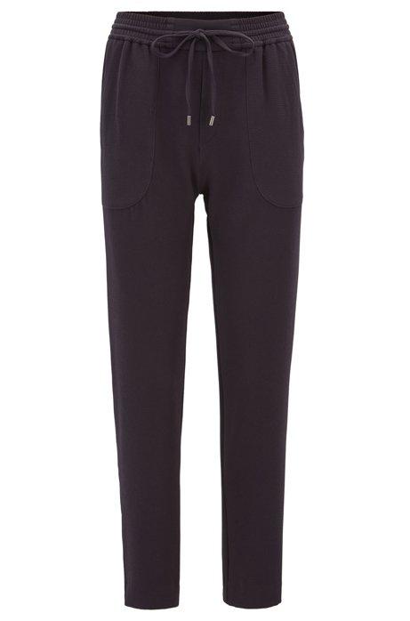 HUGO BOSS Pantalon Relaxed Fit avec cordon de serrage en crêpe froissé stretch Cu7s16iS