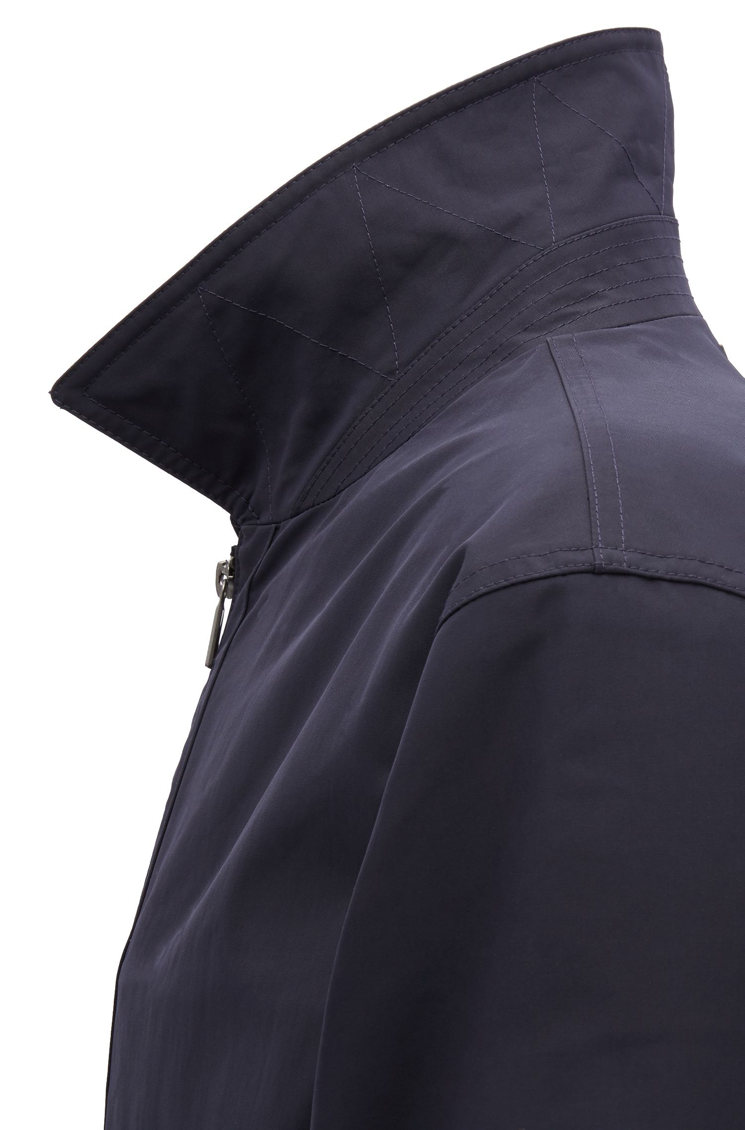 Blouson jacket in water-repellent fabric