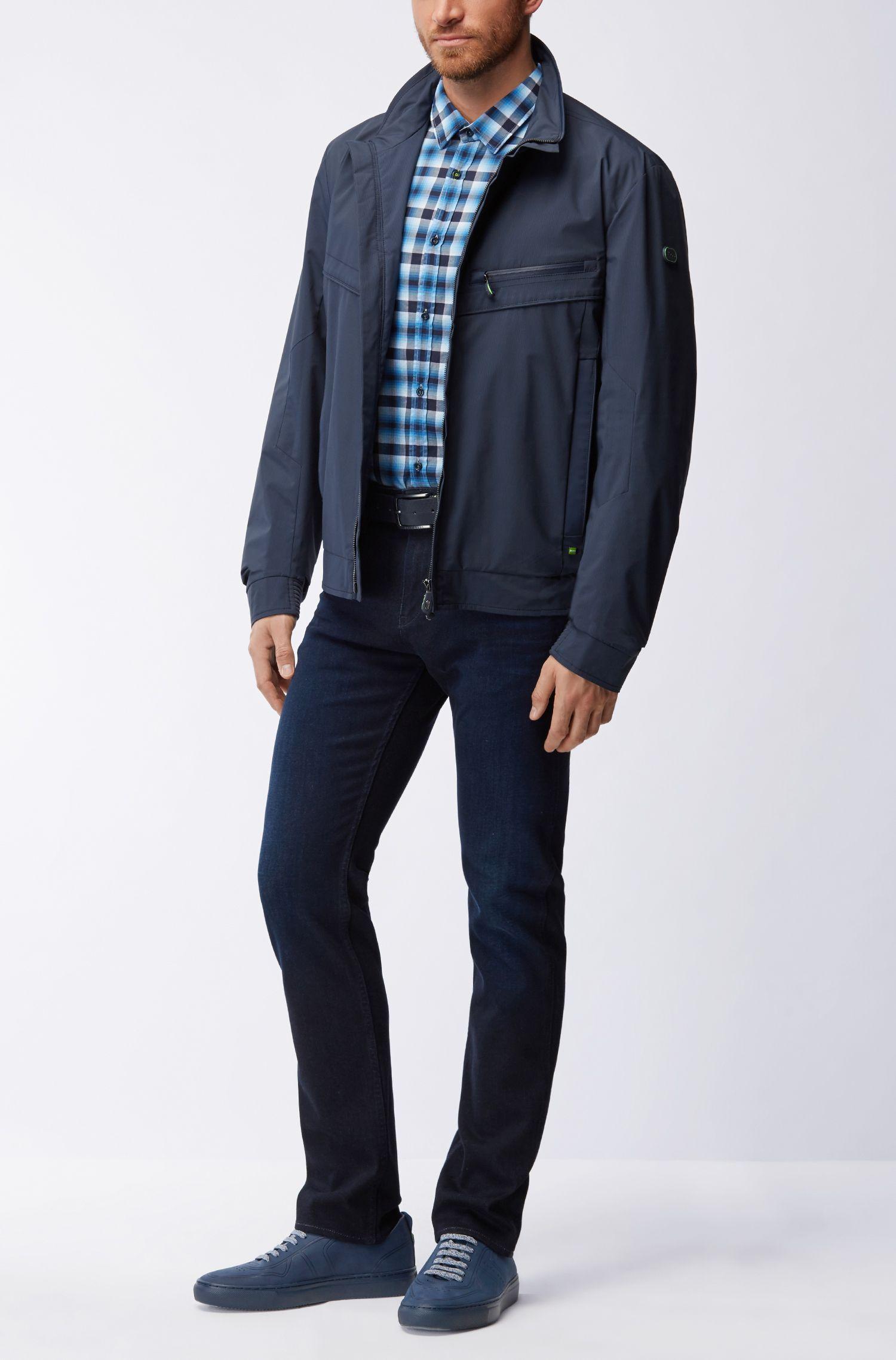 Kariertes Regular-Fit Hemd aus Baumwoll-Popeline