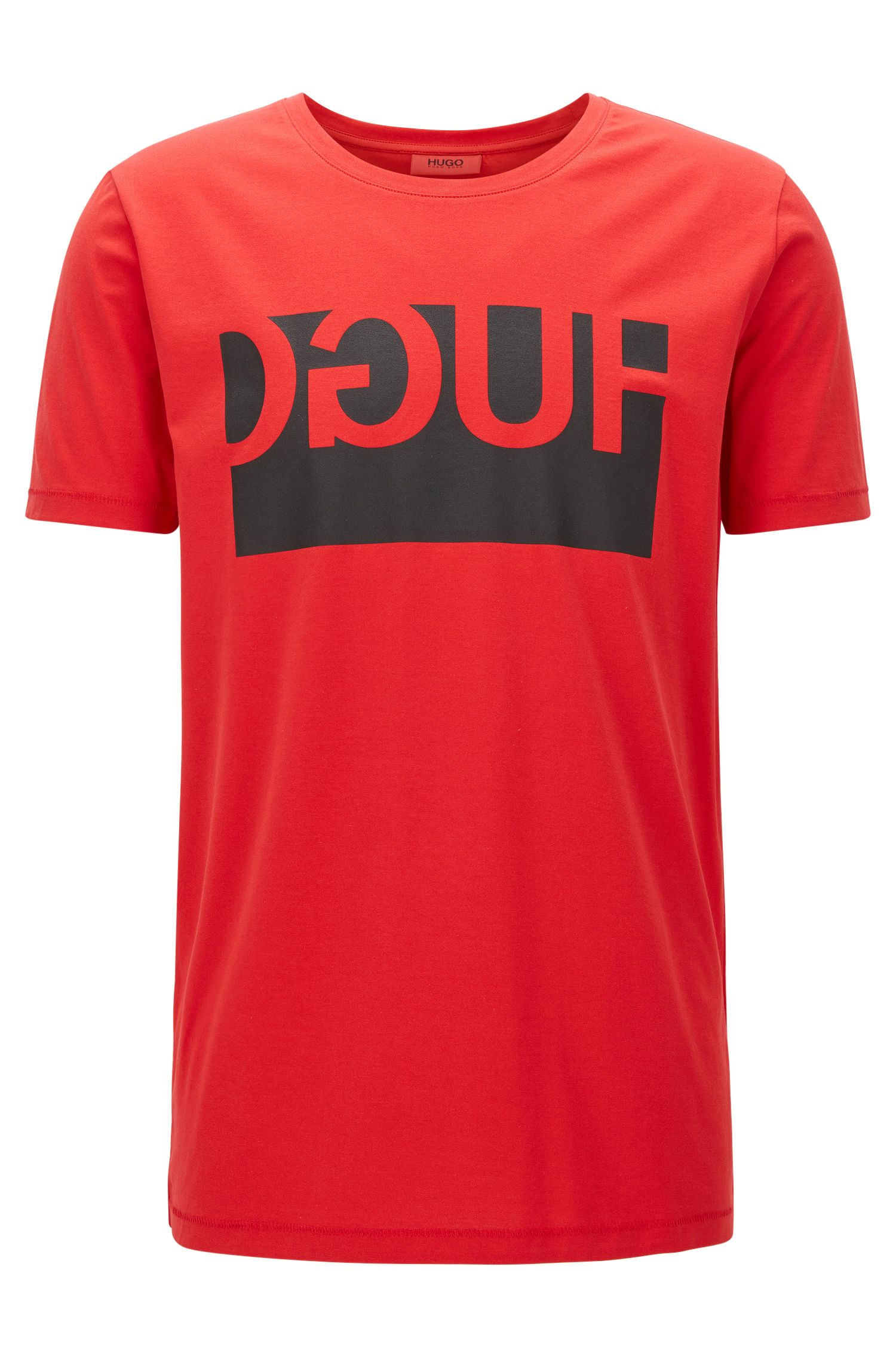 Online Exclusive regular-fit cotton T-shirt with reverse logo