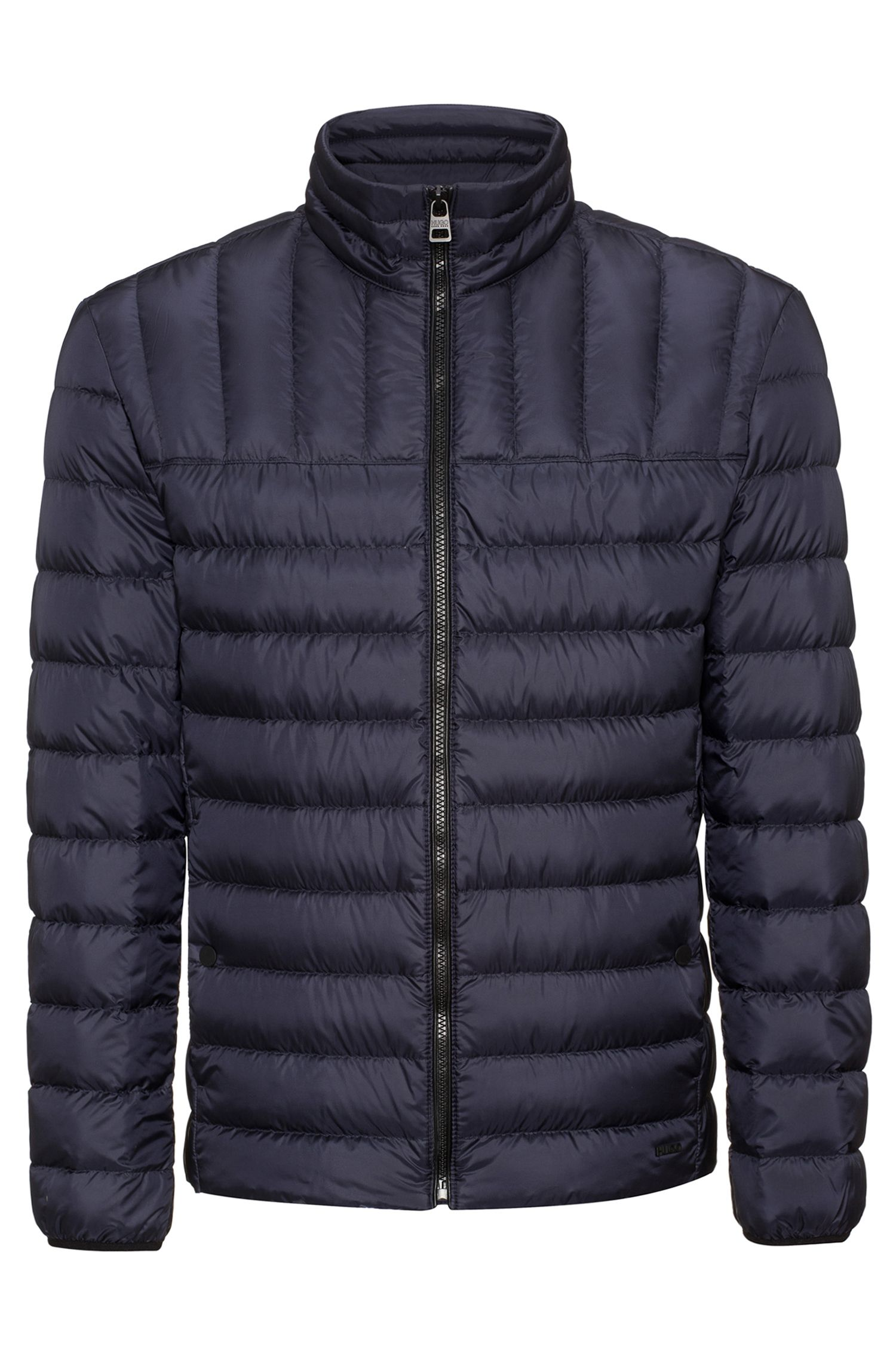 Slim-fit down jacket in water-repellent technical fabric