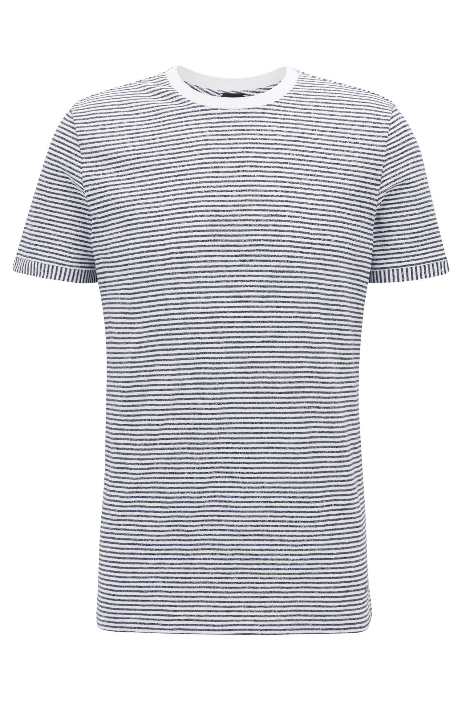 T-shirt Regular Fit en coton mélangé mouliné