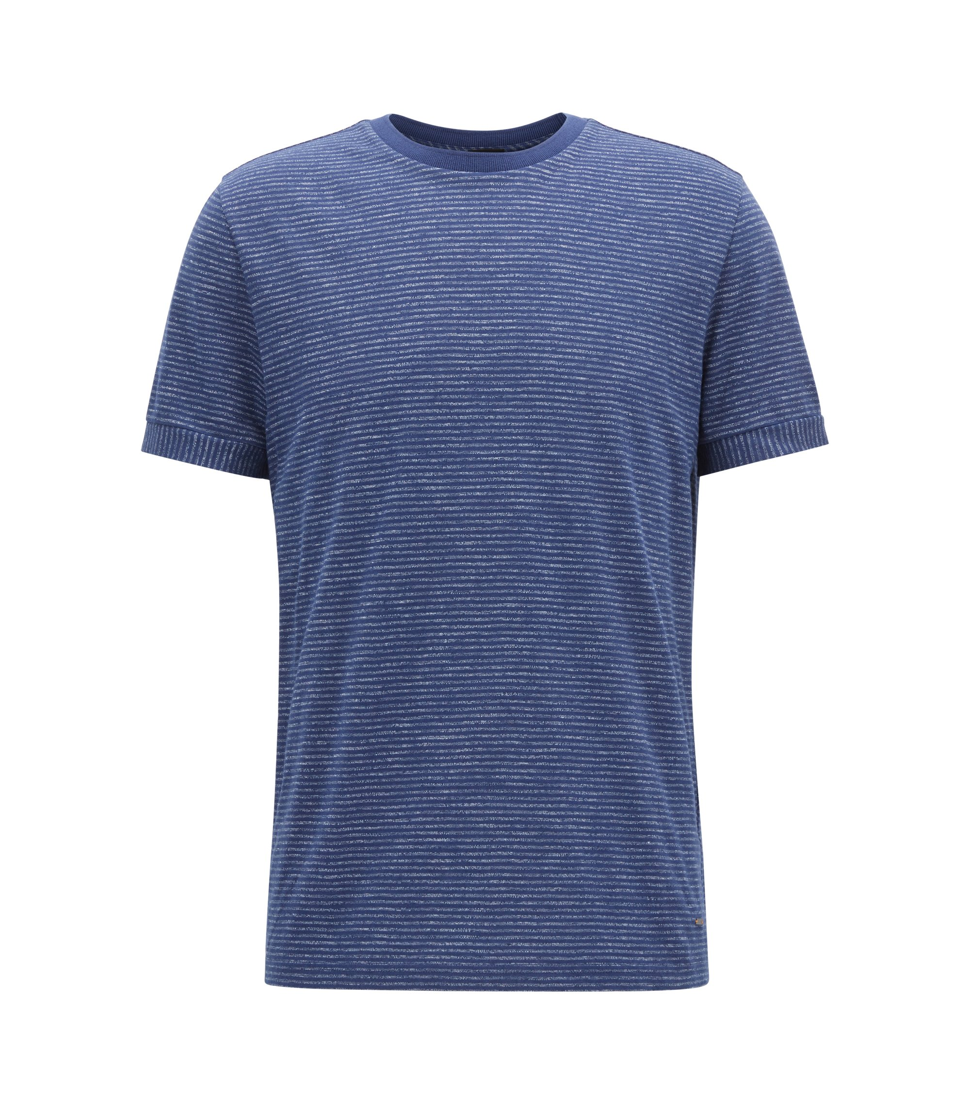 Regular-Fit T-Shirt aus Baumwoll-Mix, Dunkelblau