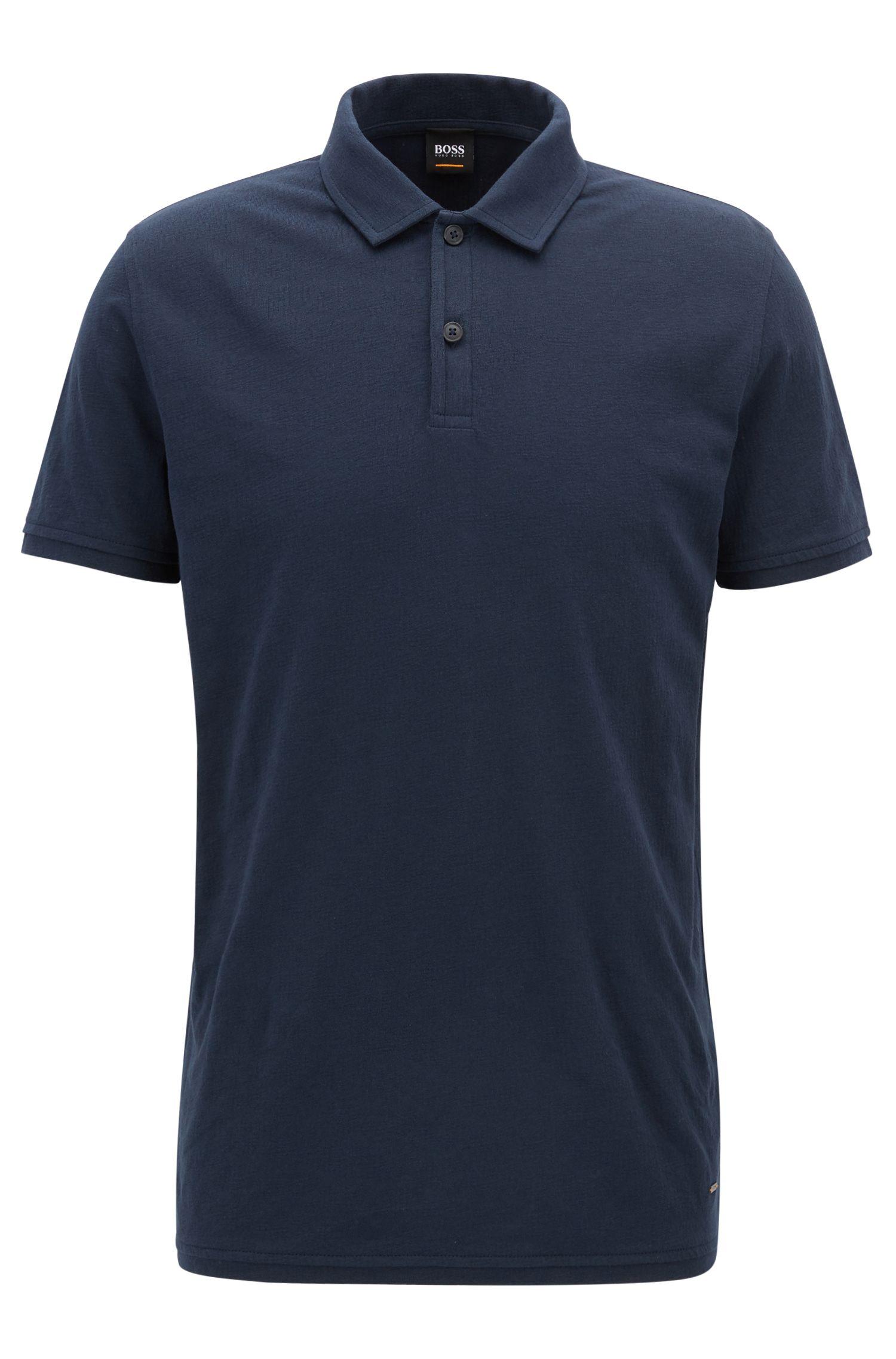 Polo regular fit in jersey di cotone jacquard