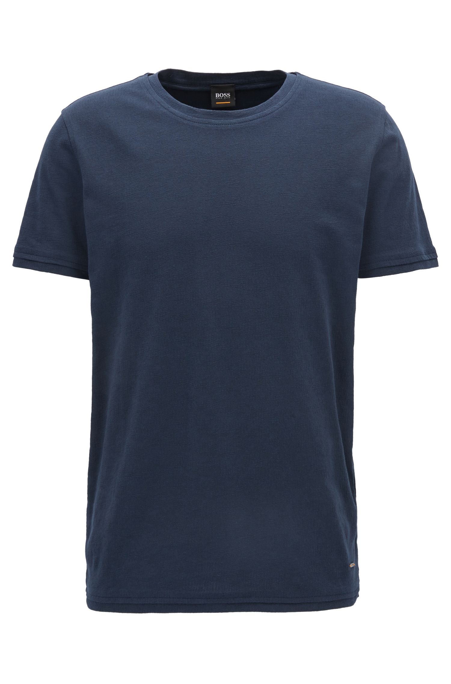 Regular-fit T-shirt in structured cotton jacquard