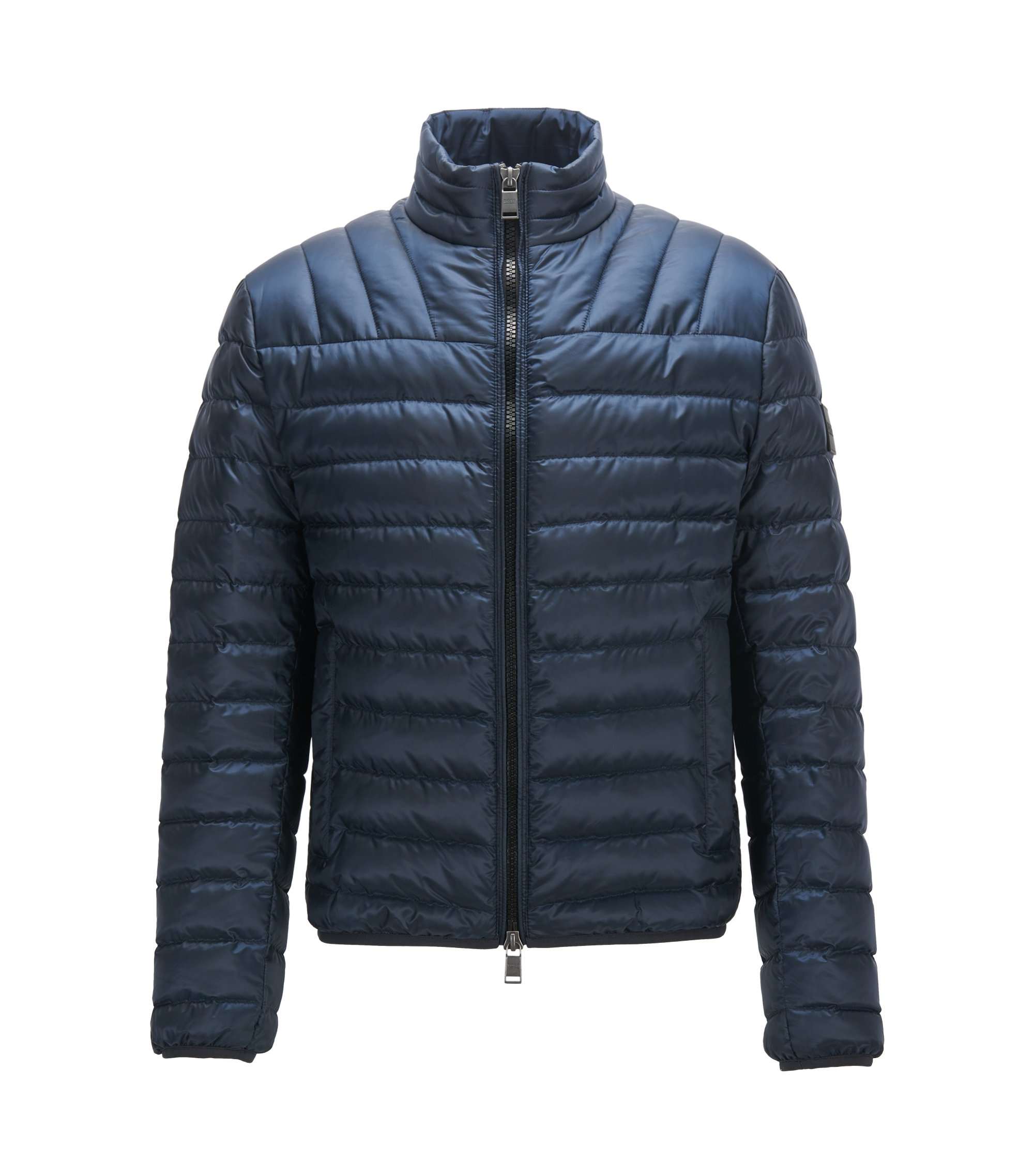 Regular-fit down jacket in water-repellent fabric, Dark Blue
