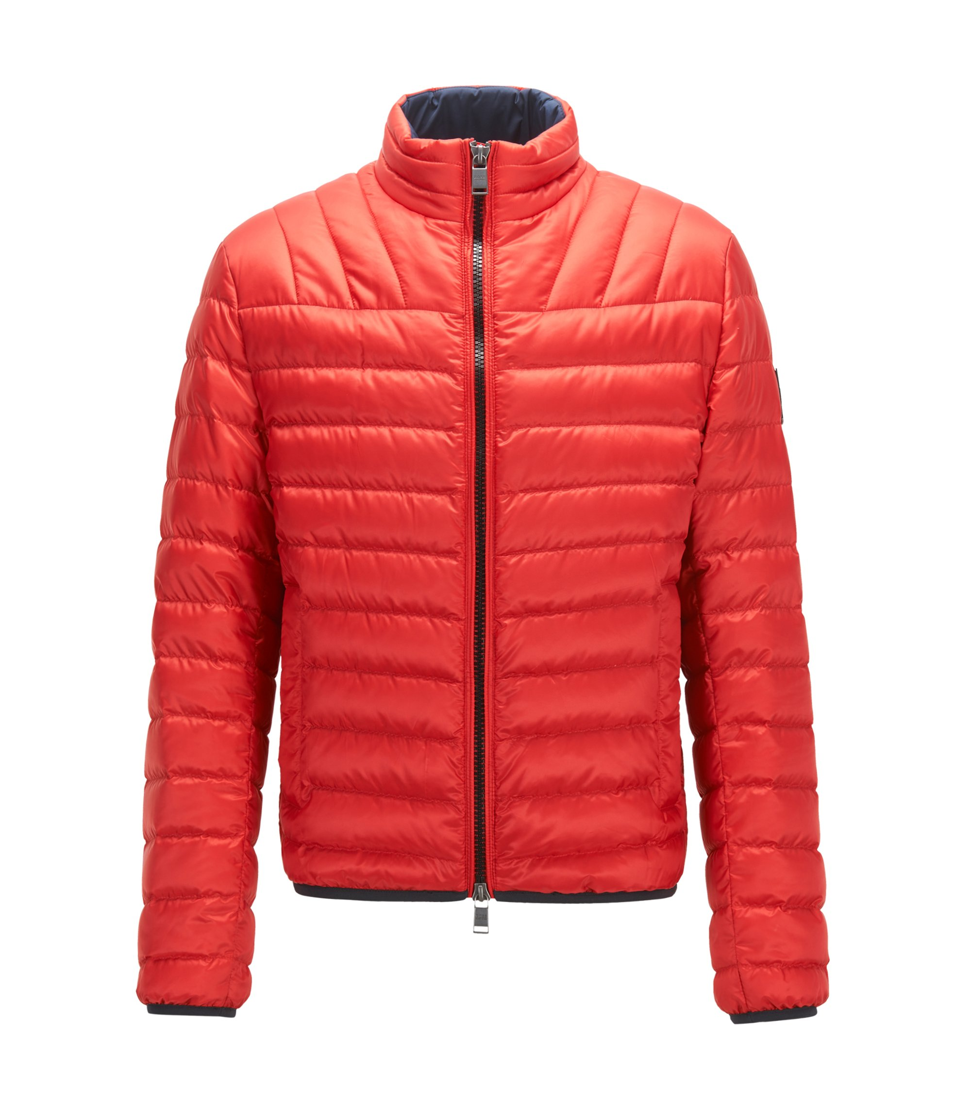 Regular-fit down jacket in water-repellent fabric, Red