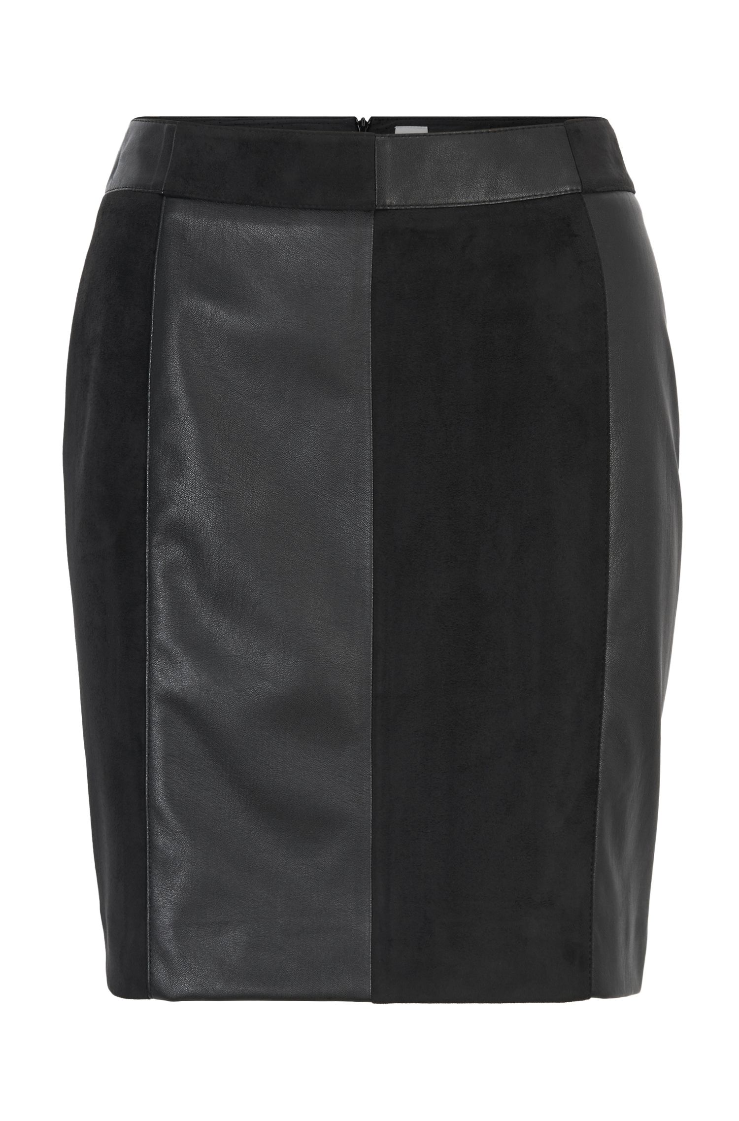 Hybrid mini skirt in friendly leather