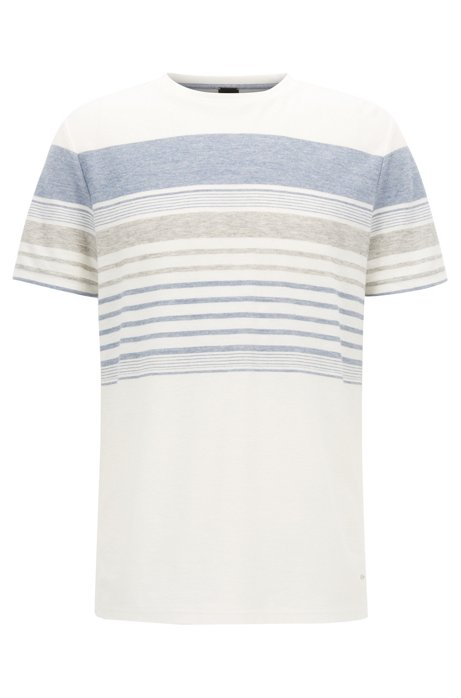 Relaxed-fit striped T-shirt in a cotton blend BOSS Sexy Sport 2bflXekdY