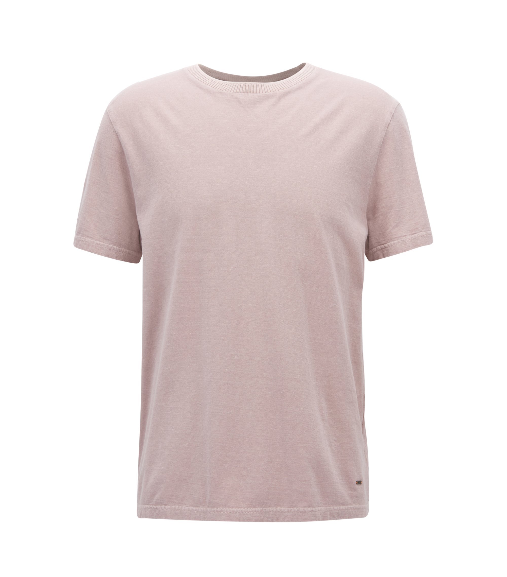 Relaxed-fit T-shirt in a washed slub-cotton blend, light pink