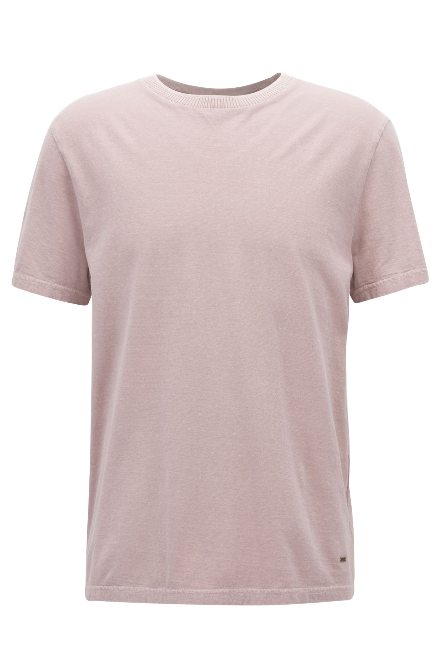 Relaxed-fit T-shirt in a washed slub-cotton blend