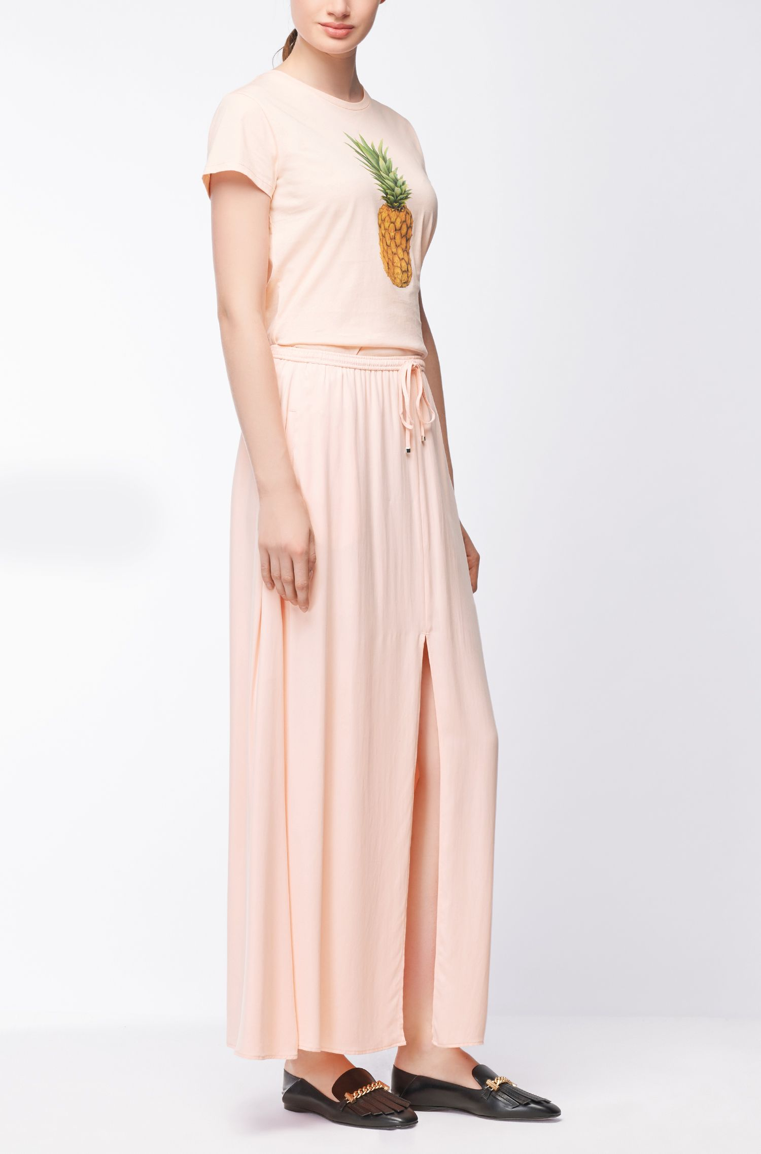 Maxi skirt in peached modal