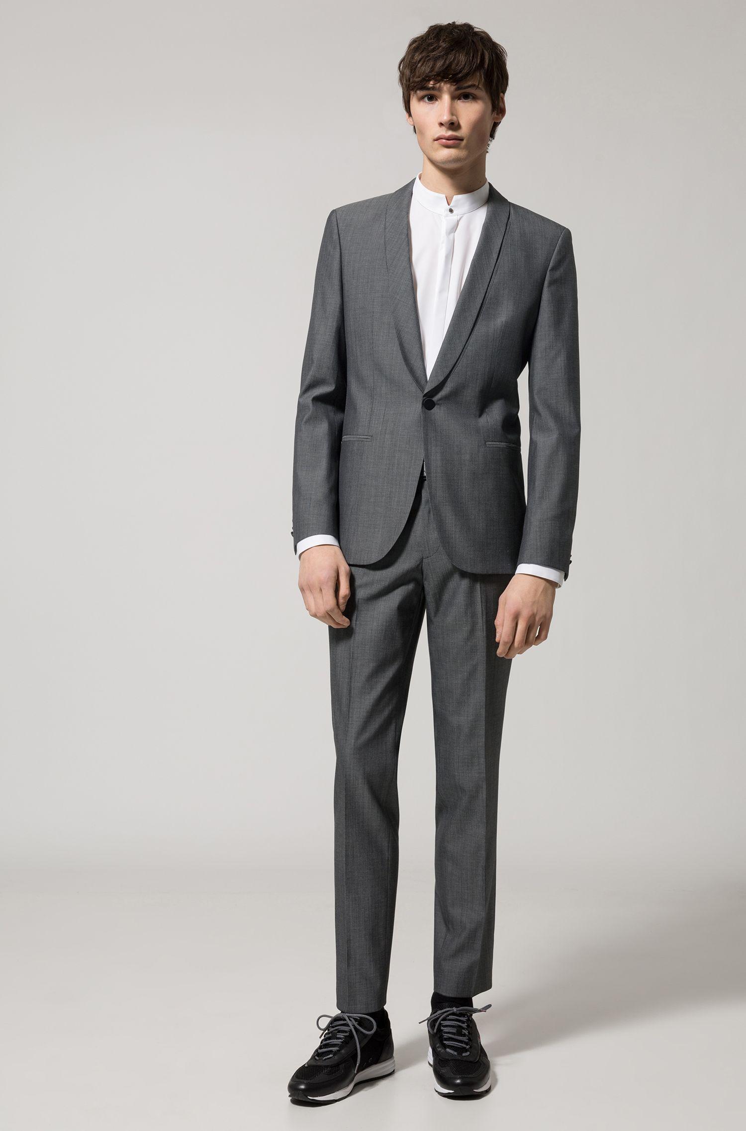 Chemise Extra Slim Fit à col montant en coton