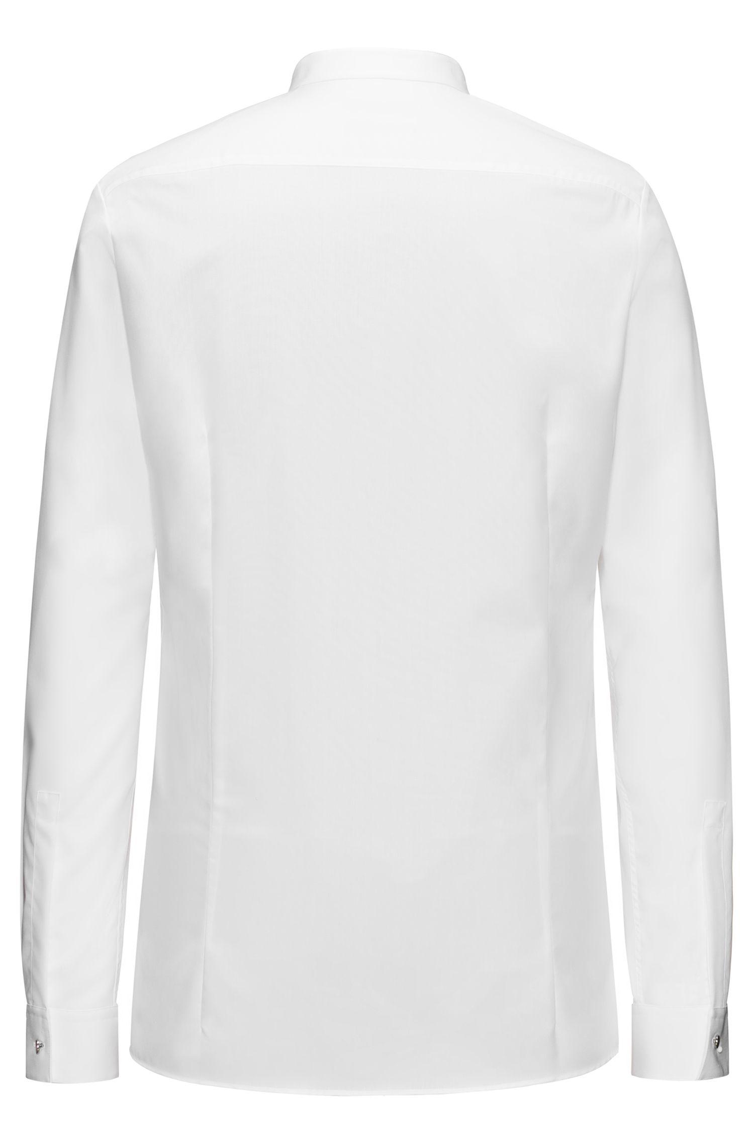 Extra Slim-Fit Hemd aus Baumwolle mit Stehkragen