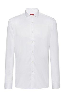 Camicia extra slim fit in twill di cotone, Bianco