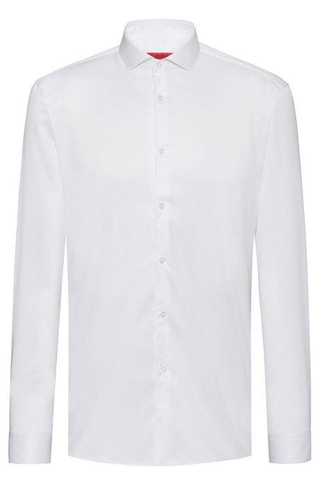 Extra Slim-Fit Hemd aus Baumwoll-Twill, Weiß