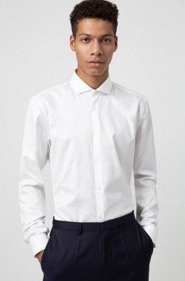 Extra slim-fit overhemd in een twill van katoen, Wit