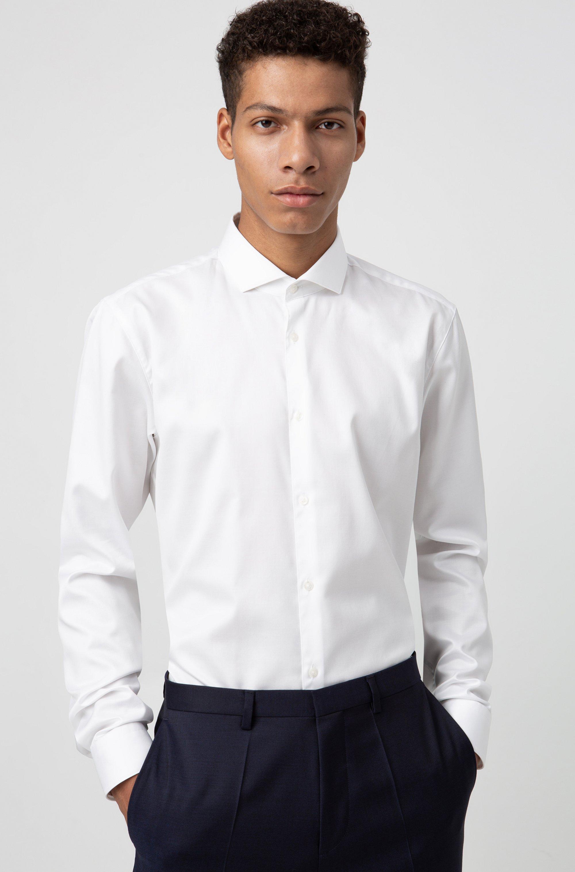 Extra Slim-Fit Hemd aus Baumwoll-Twill