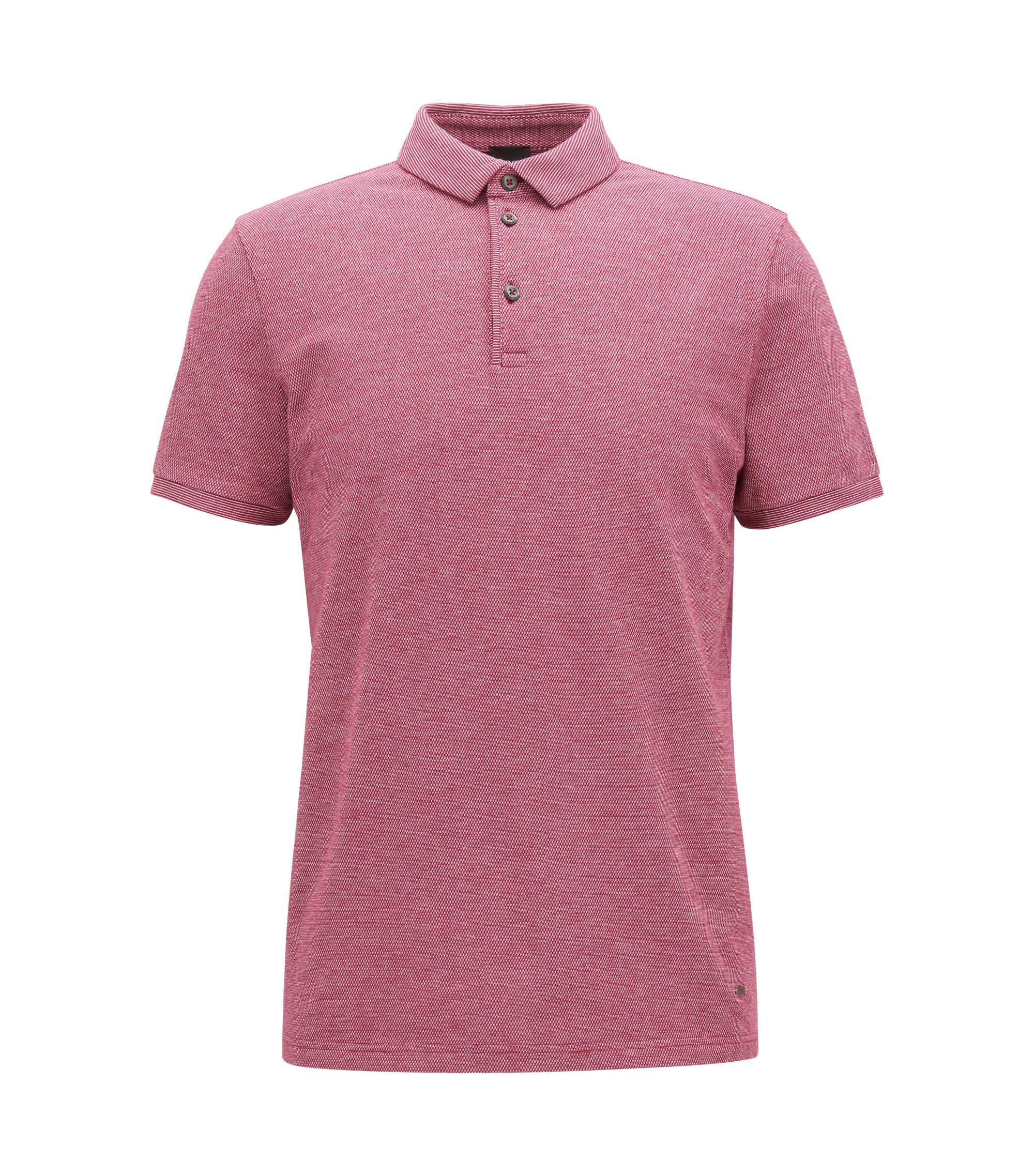 Polo Relaxed Fit en piqué Oxford stretch , Violet foncé