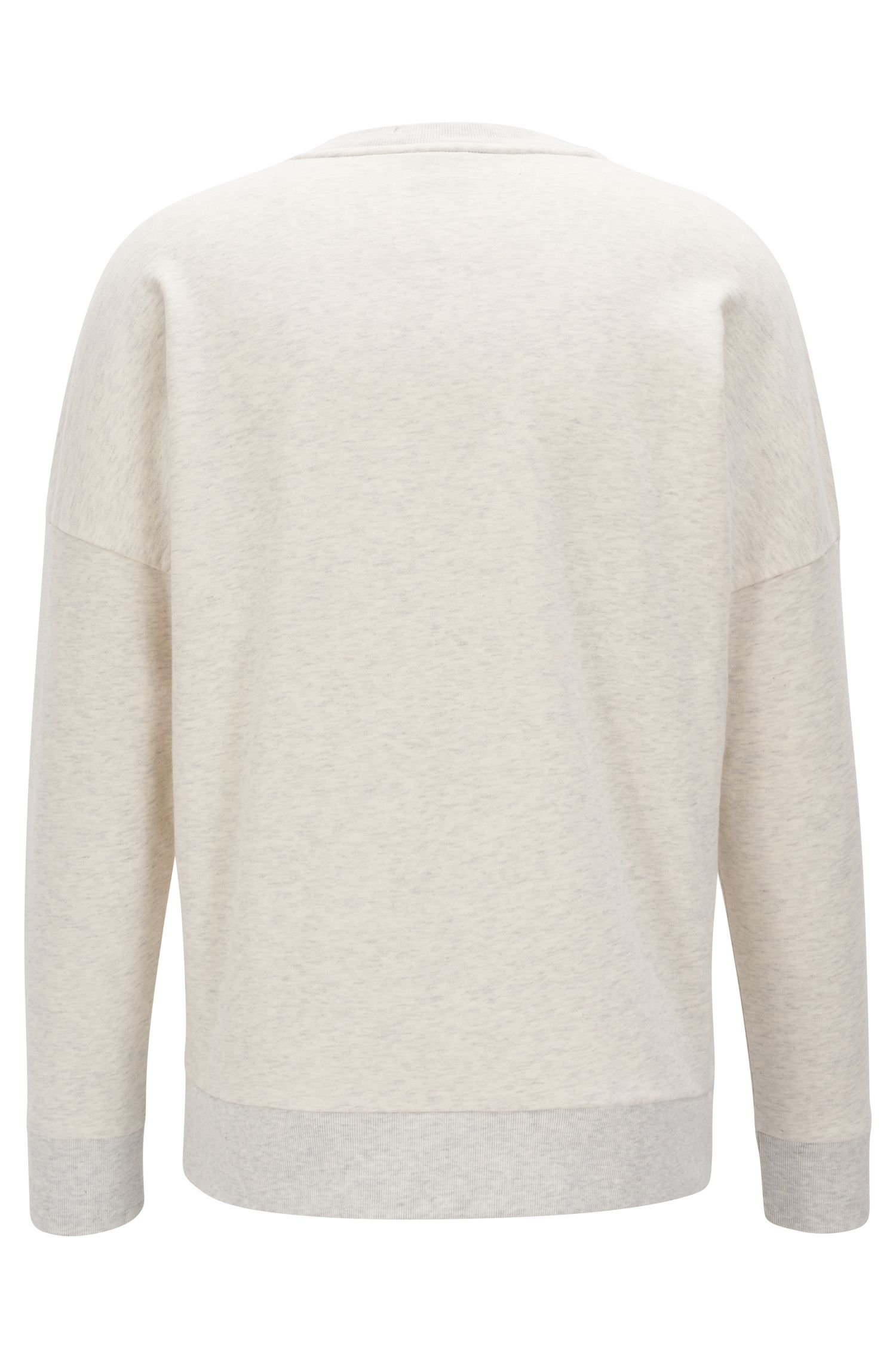 Pullover aus French Terry mit Logo-Dessin