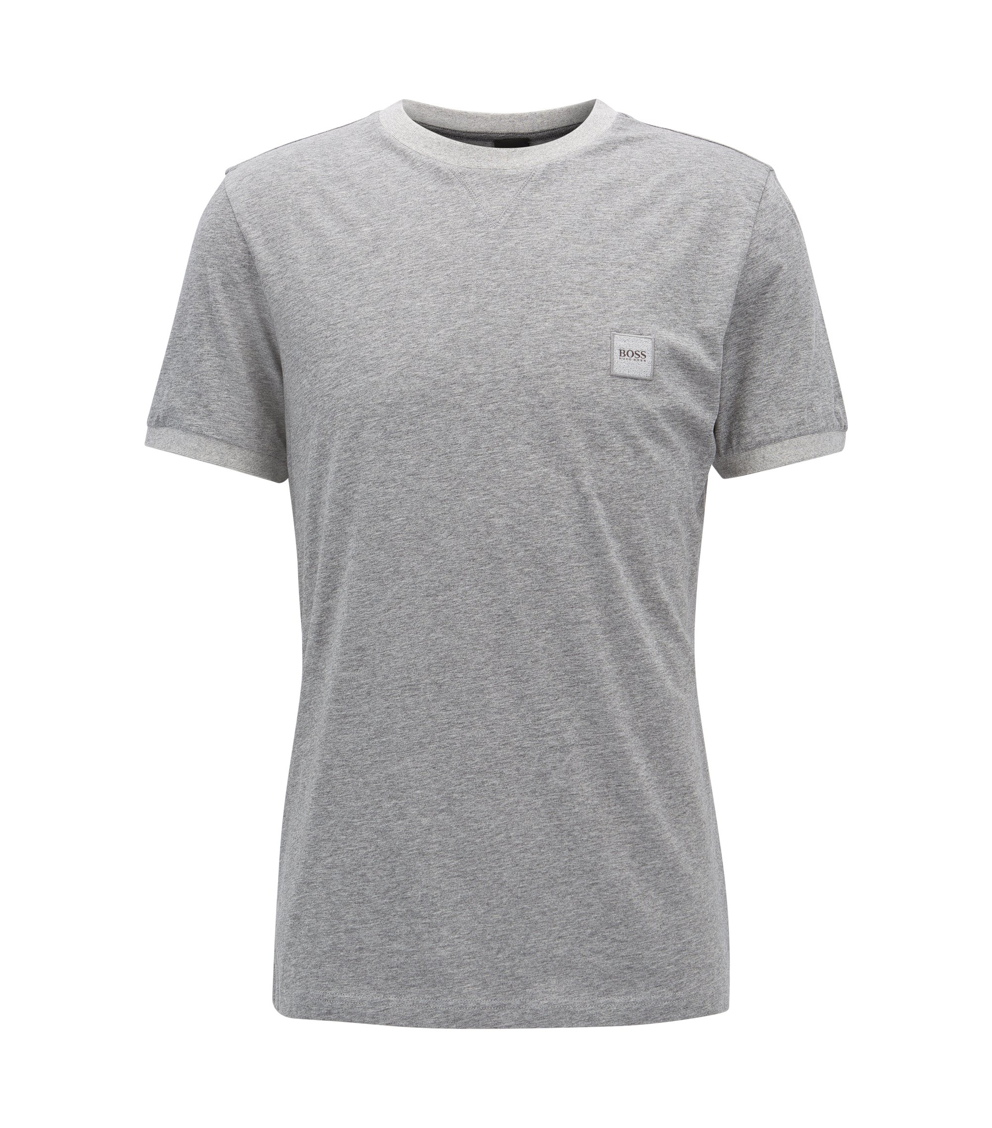 T-shirt Relaxed Fit en coton, Gris chiné