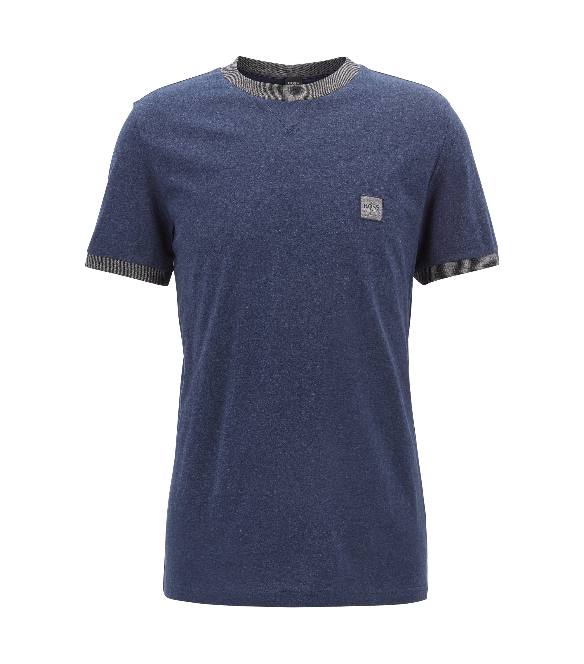 Cotton T-shirt in a relaxed fit, Dark Blue