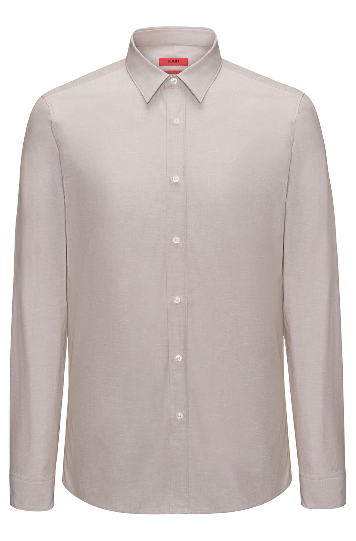 Extra-slim-fit shirt in a cotton blend