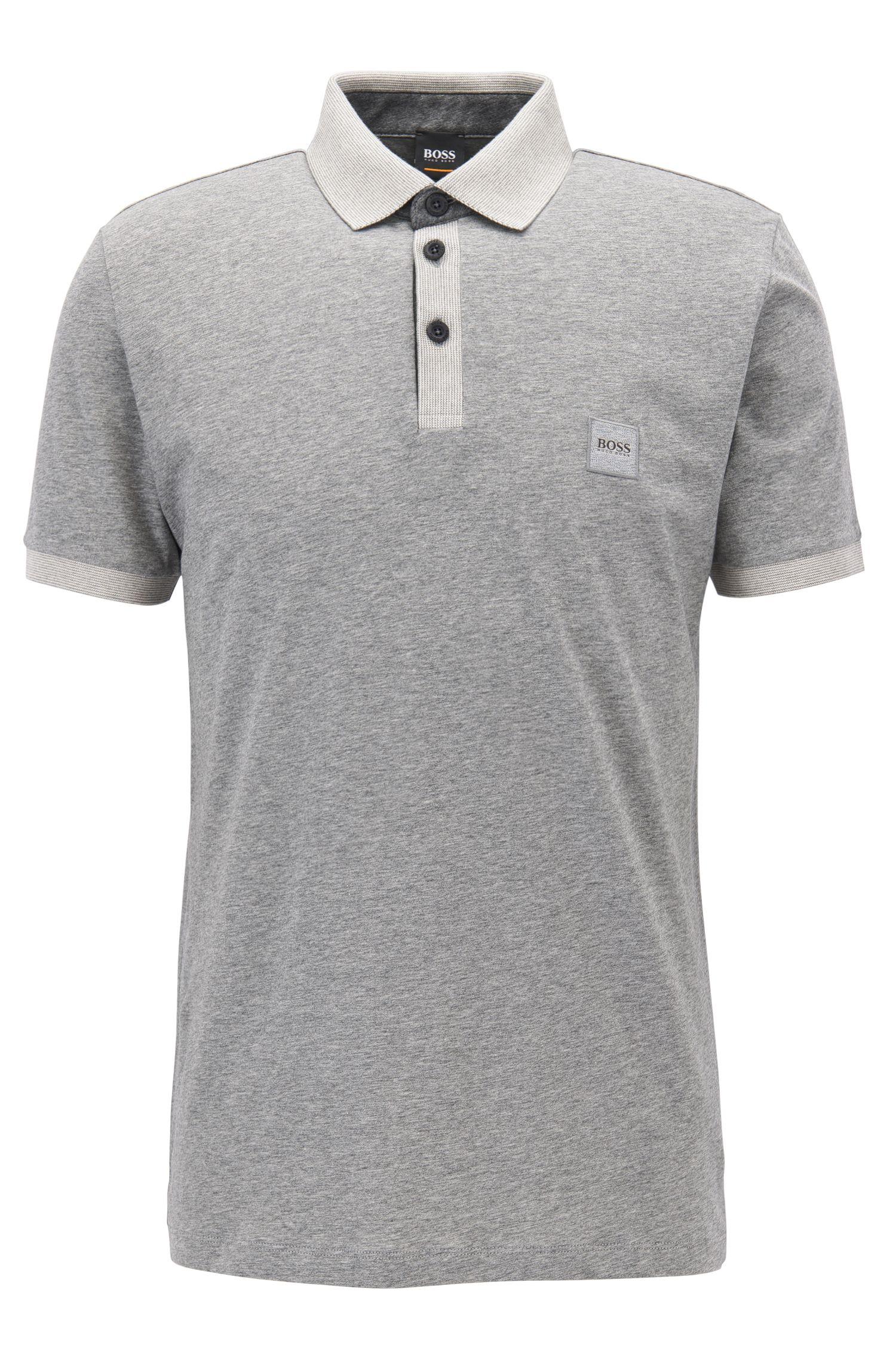 Poloshirt aus Baumwolle mit kontrastfarbenen Details