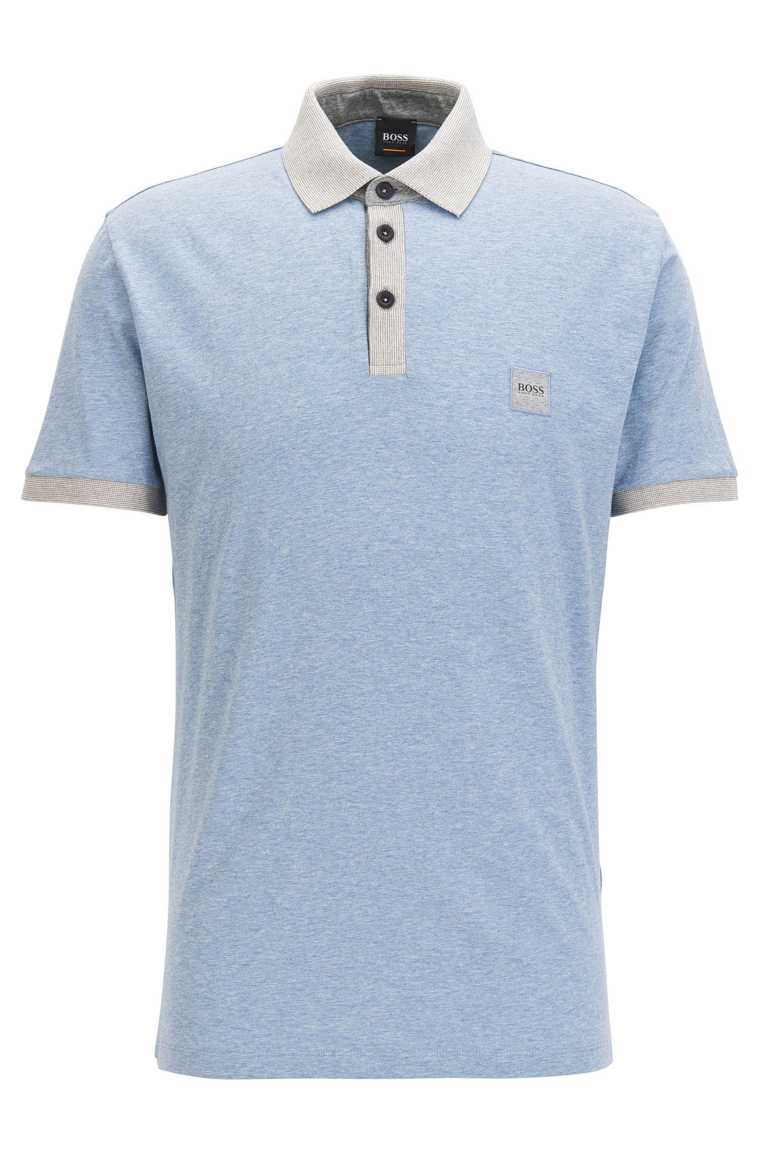 Polo en coton avec détails contrastants