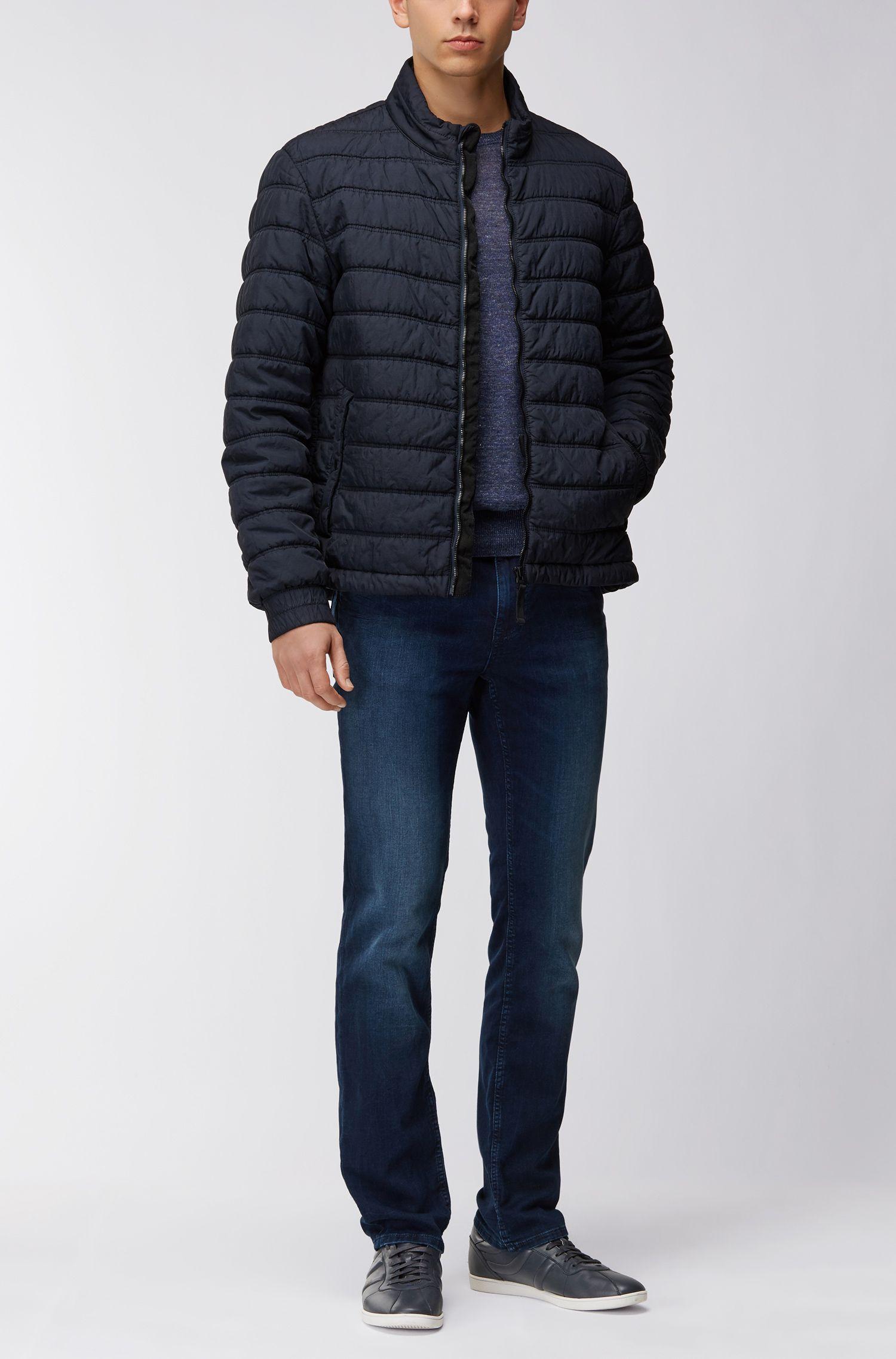 Regular-Fit Jacke aus Material-Mix mit Füllung aus PrimaLoft®