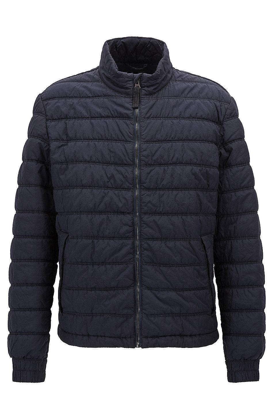 ... BOSS. Quick view · Regular-fit technical jacket with PrimaLoft®  padding, Dark Blue