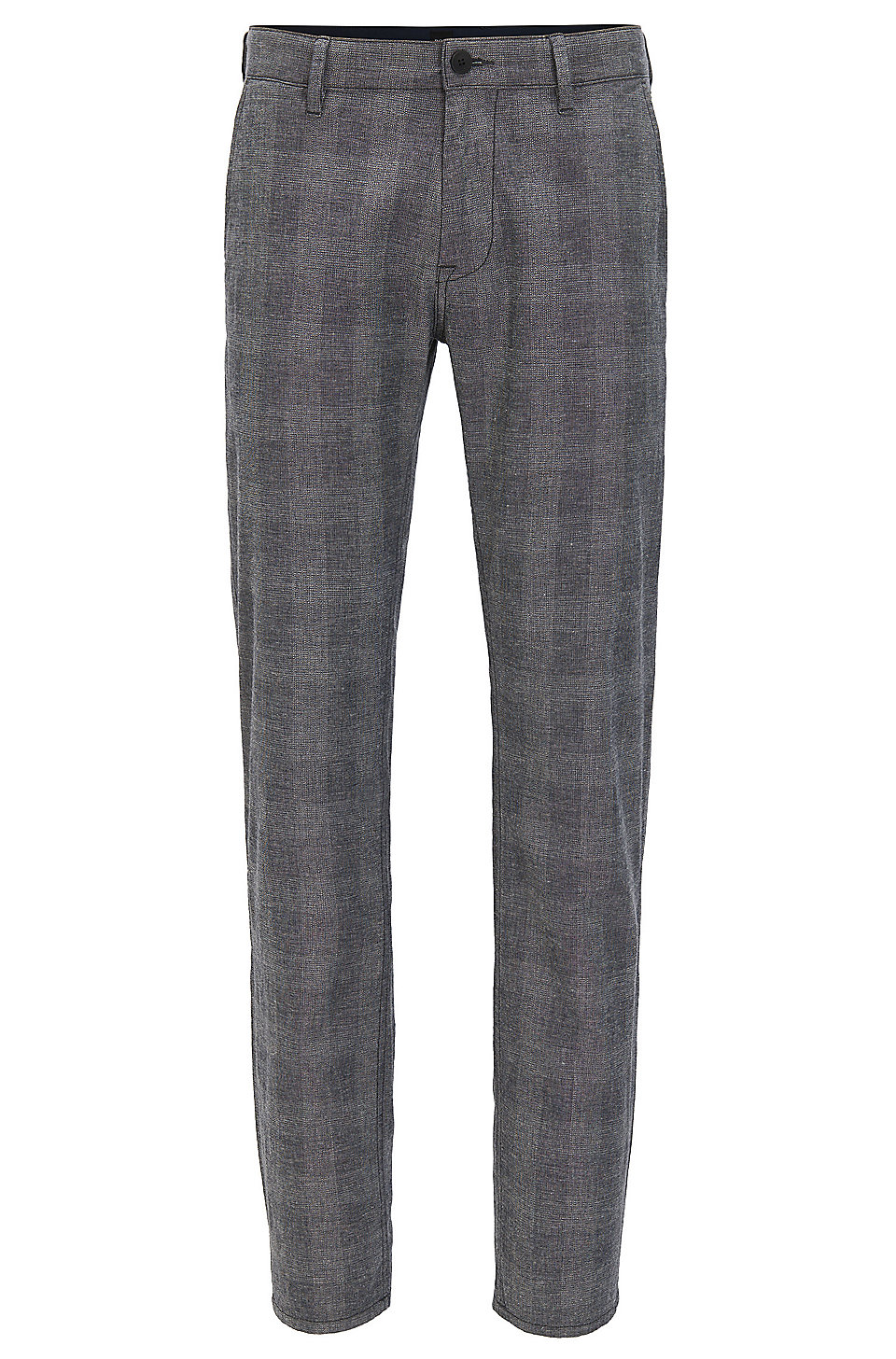 Slim-fit stretch-cotton trousers with muted check BOSS QPpTIh