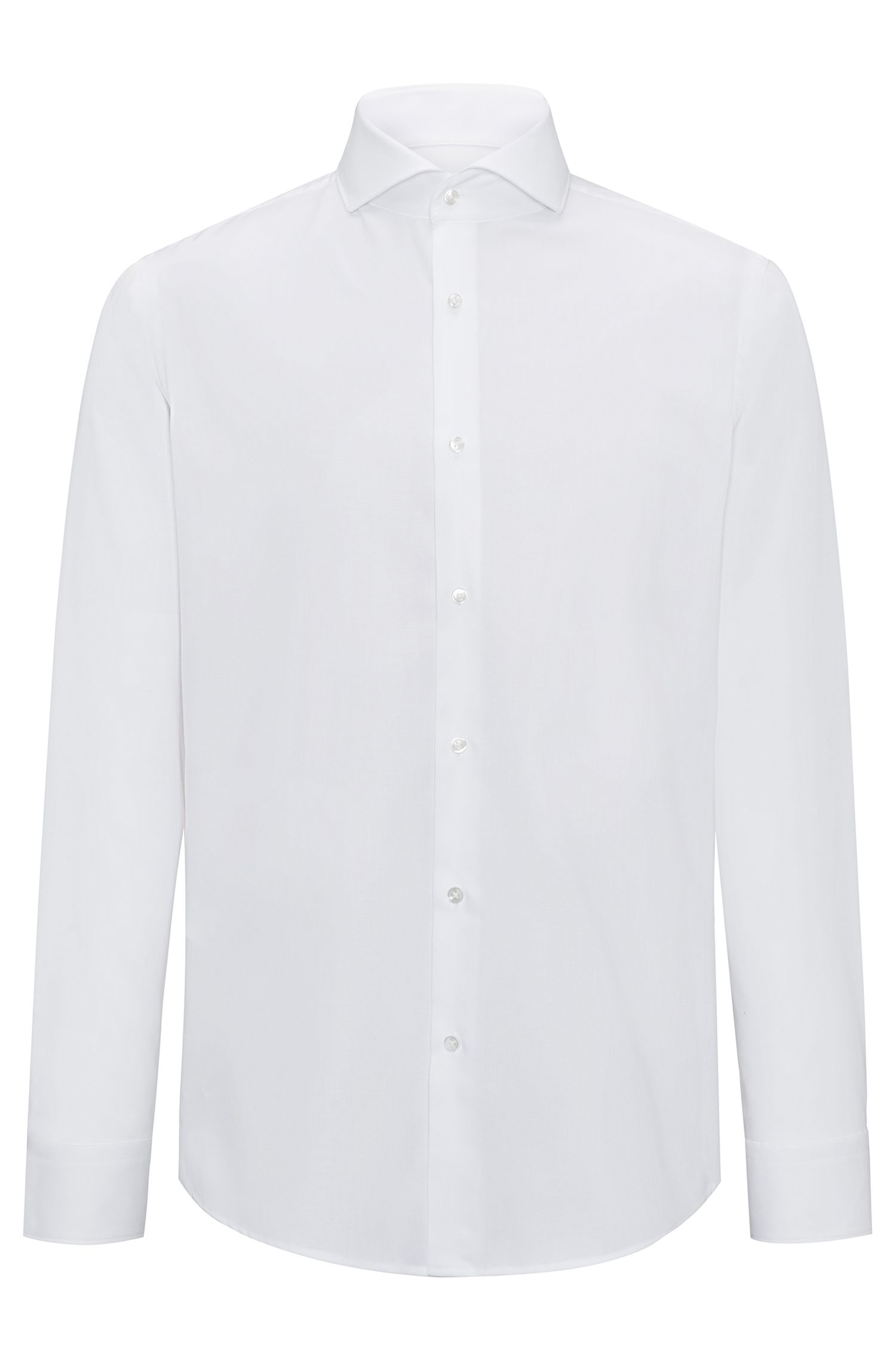 Regular-fit shirt in easy-iron cotton