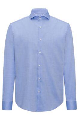 Regular-fit overhemd van gemakkelijk te strijken katoen, Lichtblauw